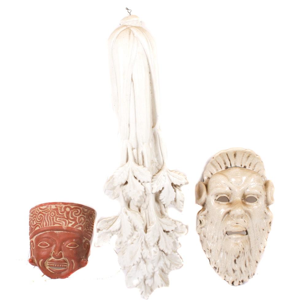 Hand-Crafted Ceramics Including Signed Kleiser Bowl
