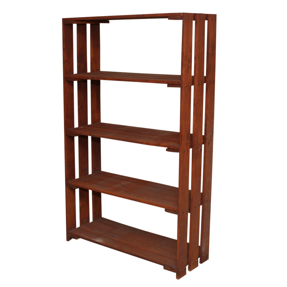 Mission Style Wooden Bookcase