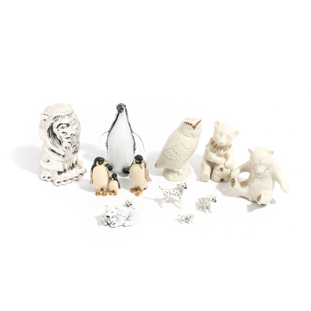 Animal Figurines and Boxes Featuring Lenox and Murano