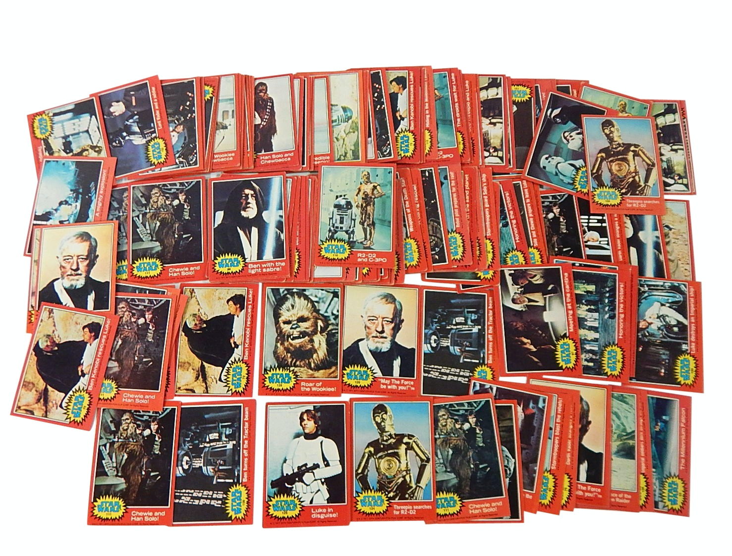 "1977 Original ""Star Wars"" Trading Card Lot - Over 100 Count"