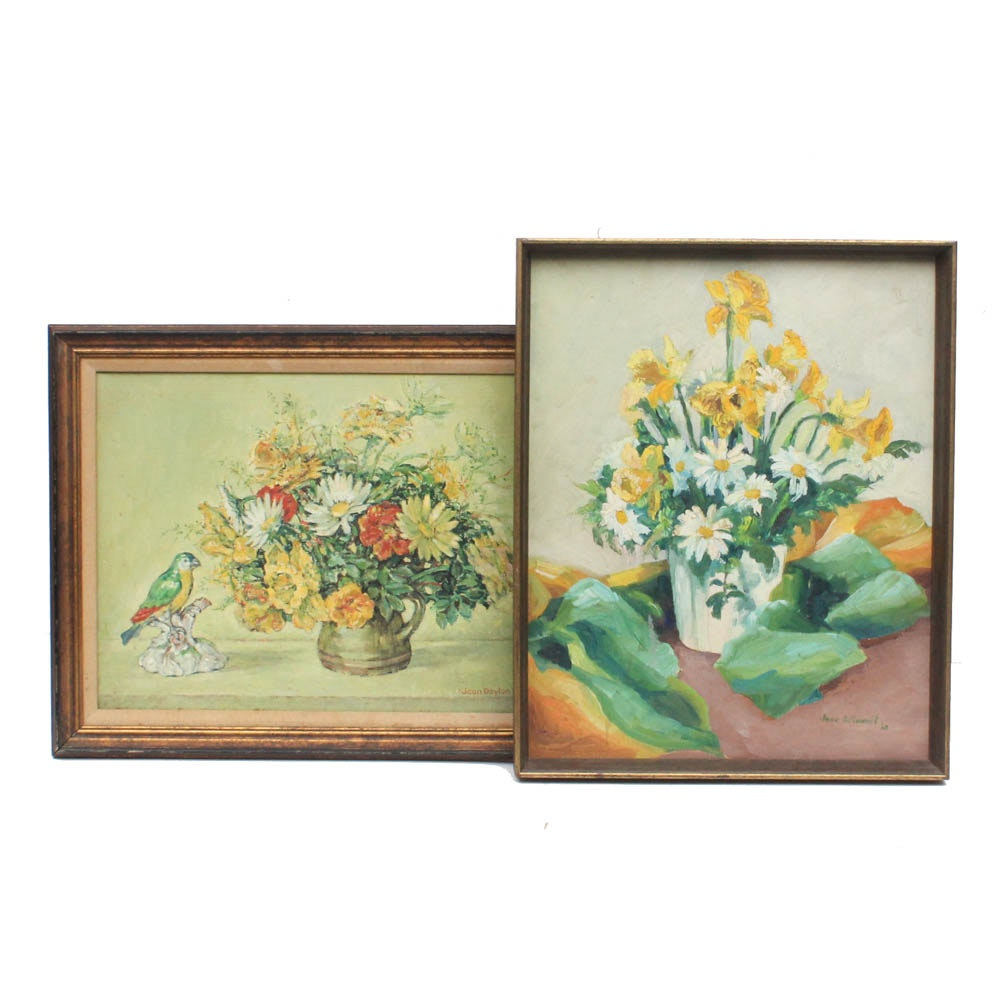 Floral Still-Life Oil Paintings