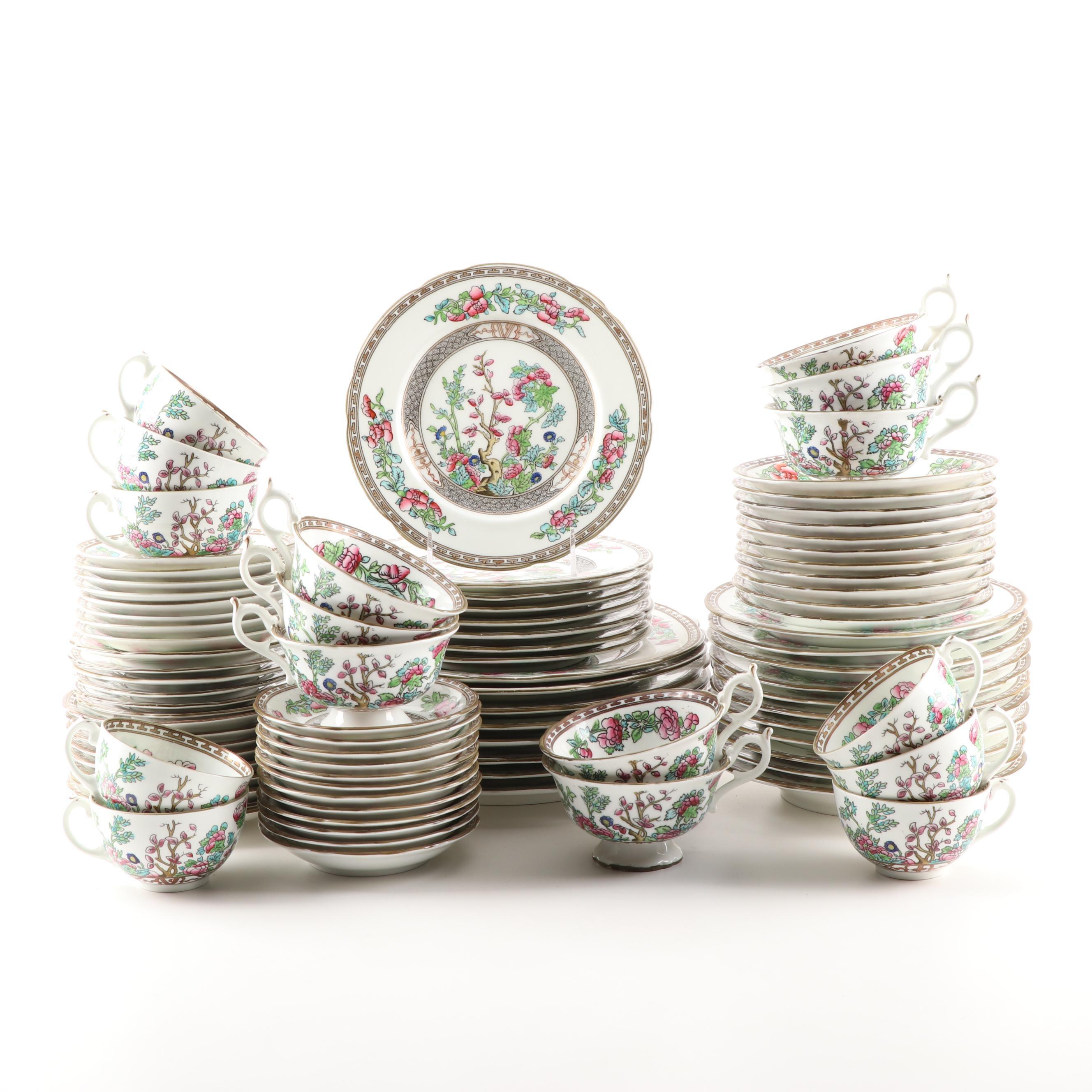 "Coalport ""Indian Tree"" Porcelain Dinnerware, Late 19th Century"