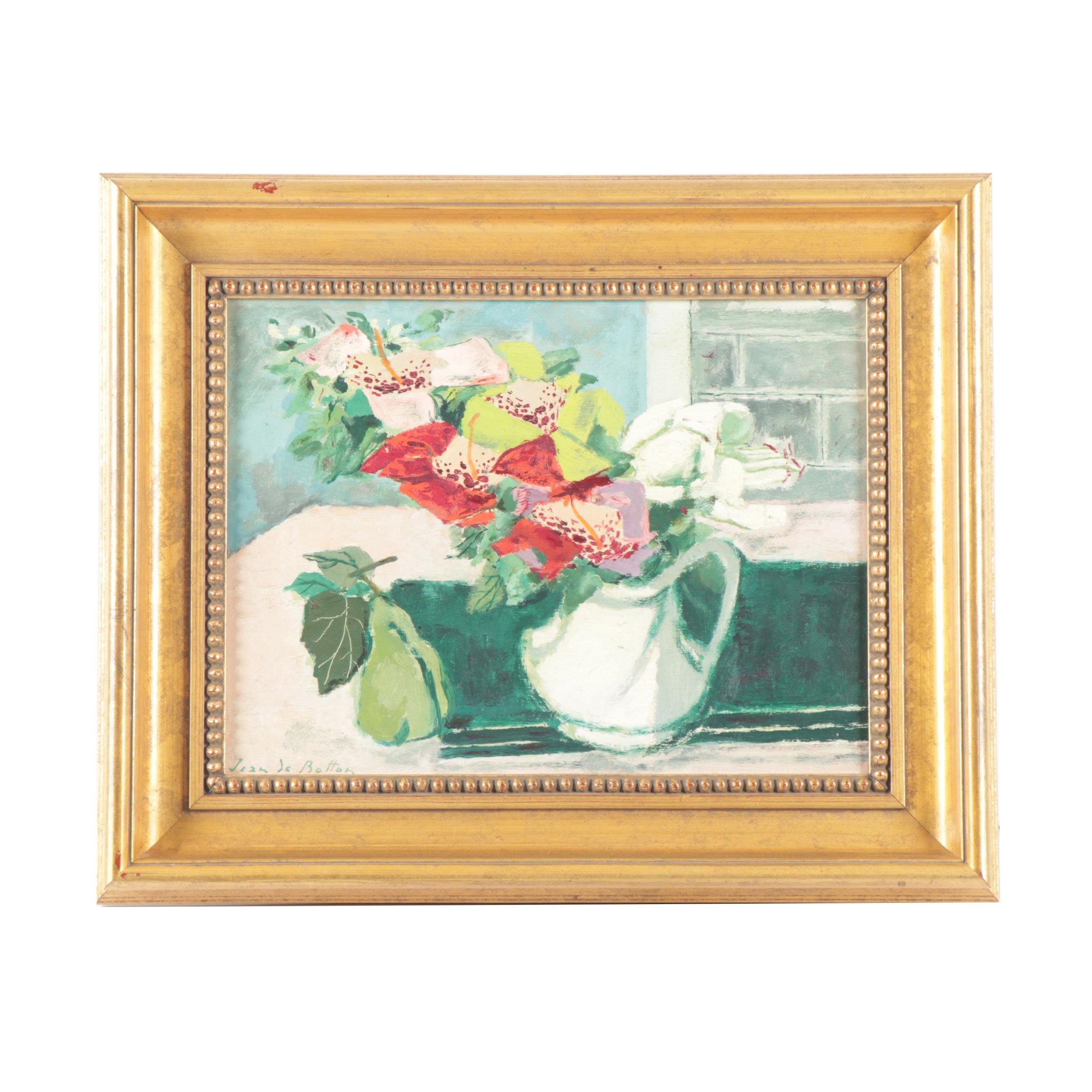Jean de Botton Floral Still Life Oil Painting