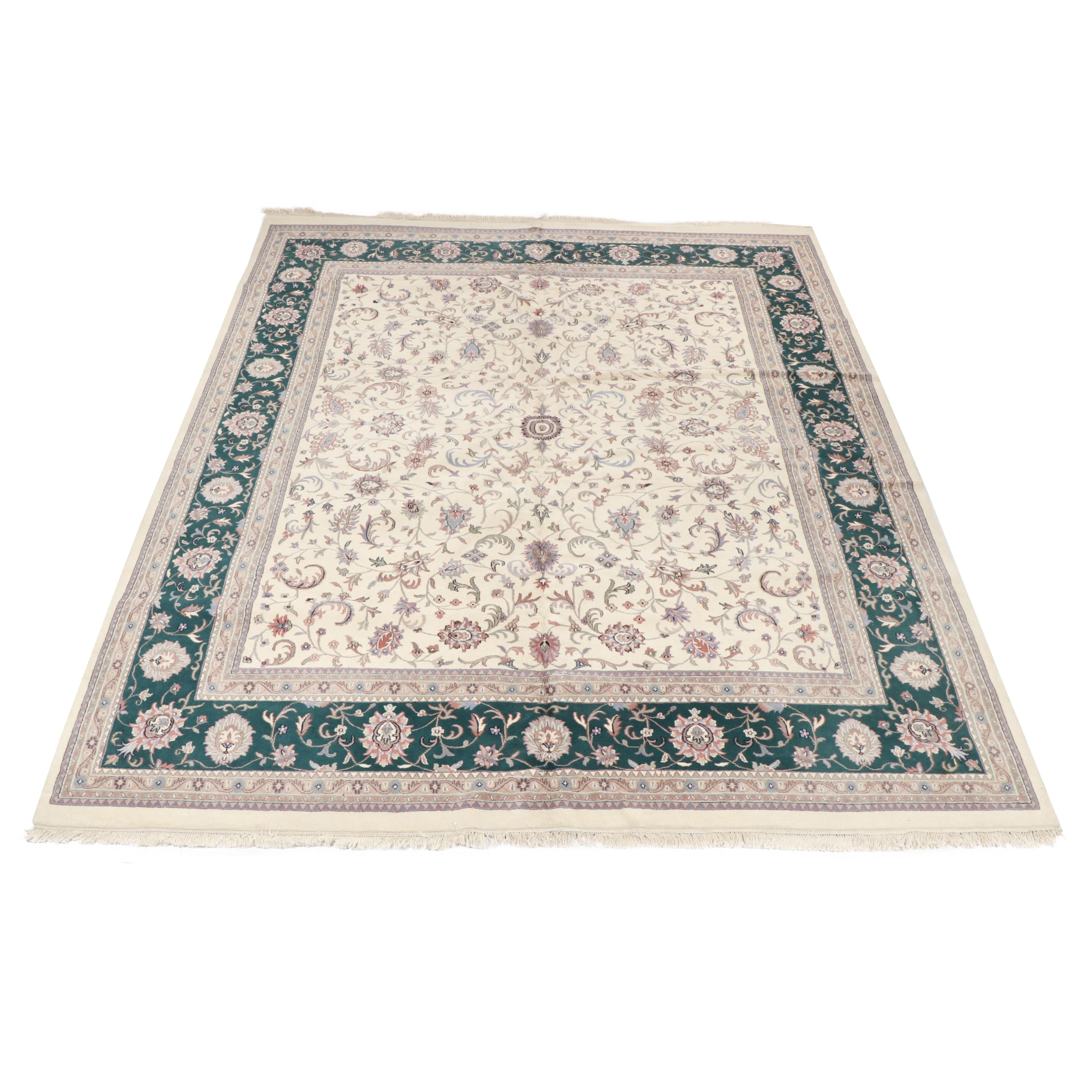 Hand-Knotted Indian Wool Palace Sized Rug from Oscar Isberian