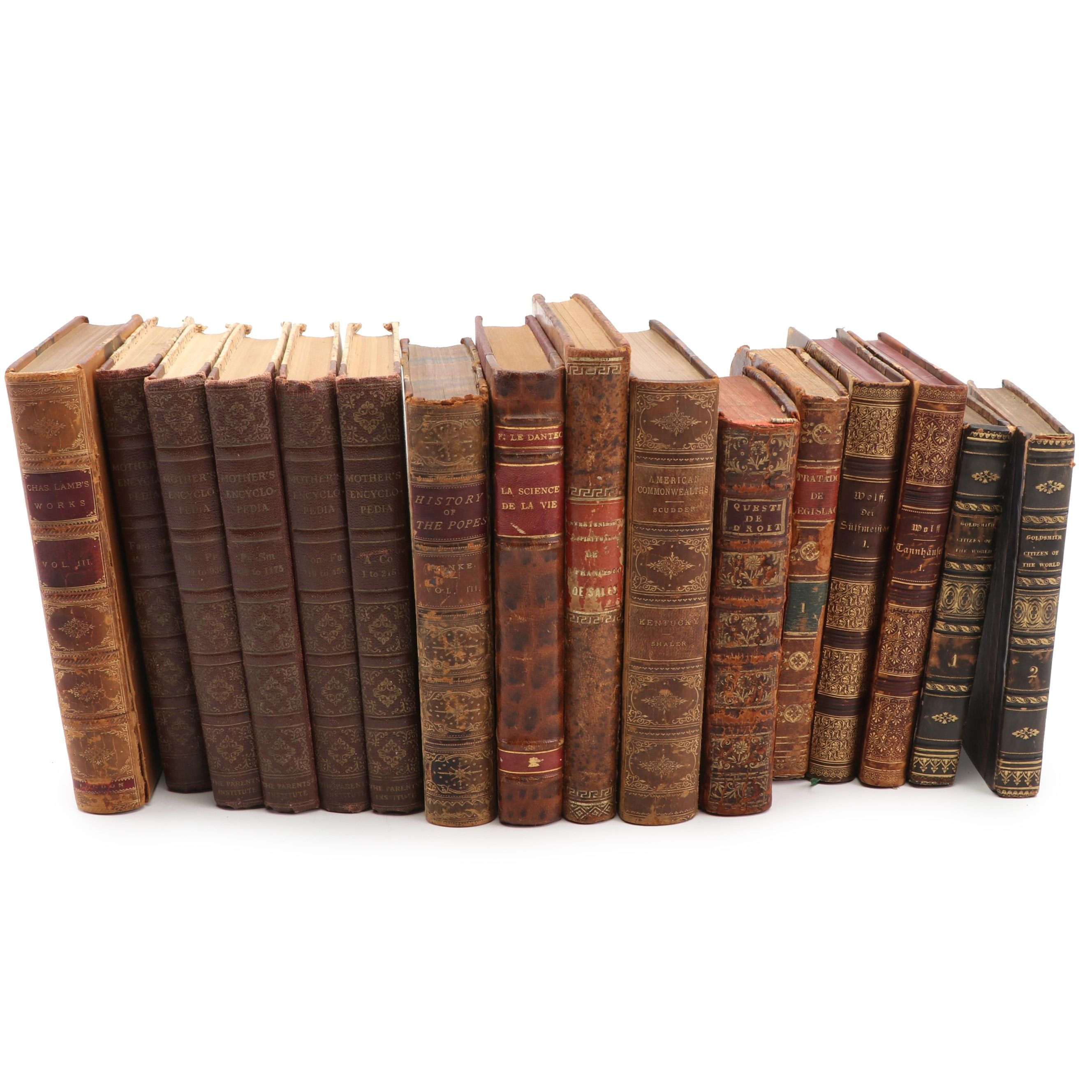 Vintage and Antiquarian Collection of Books in English, French, Spanish & German
