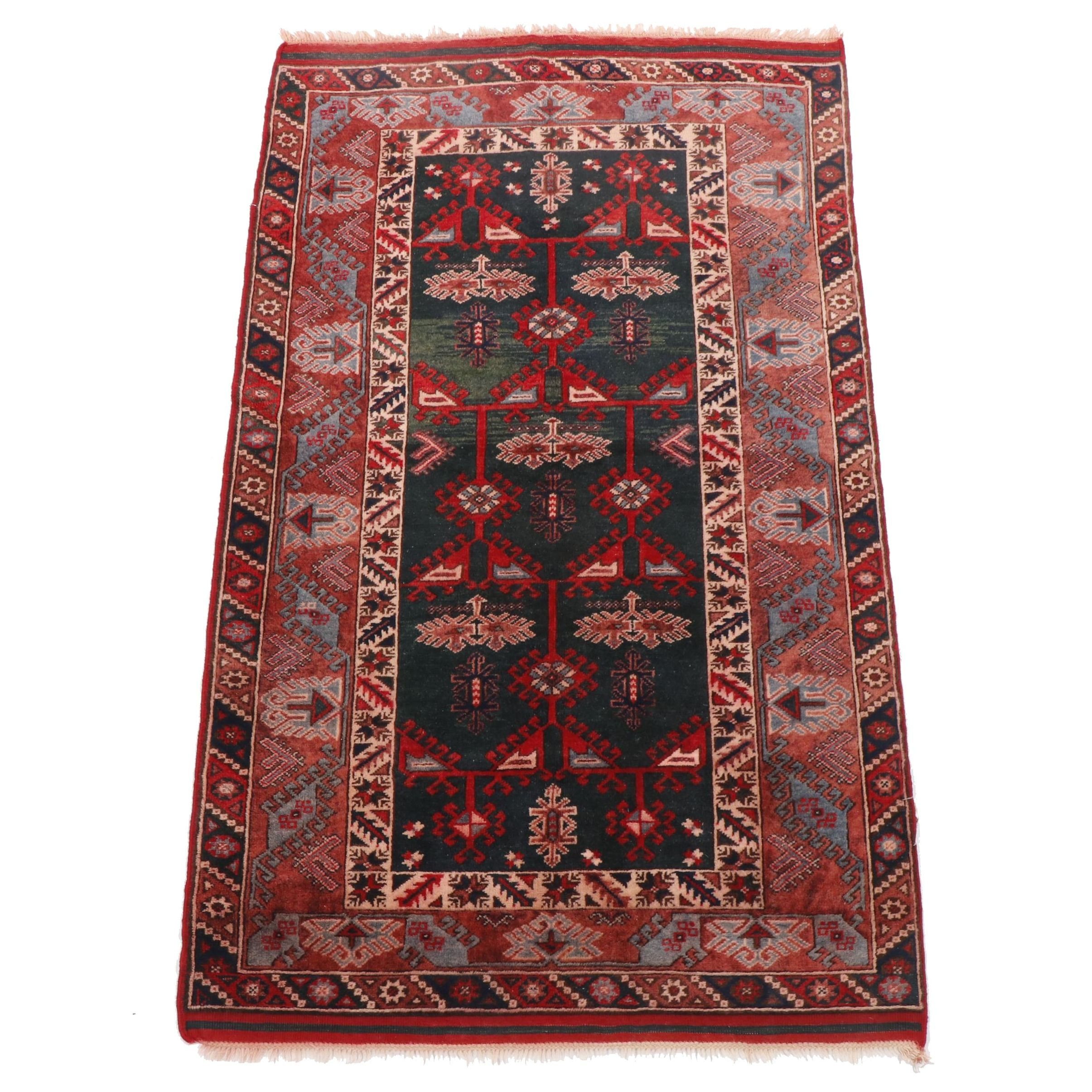 Hand-Knotted Turkish Konya Wool Rug from Oscar Isberian