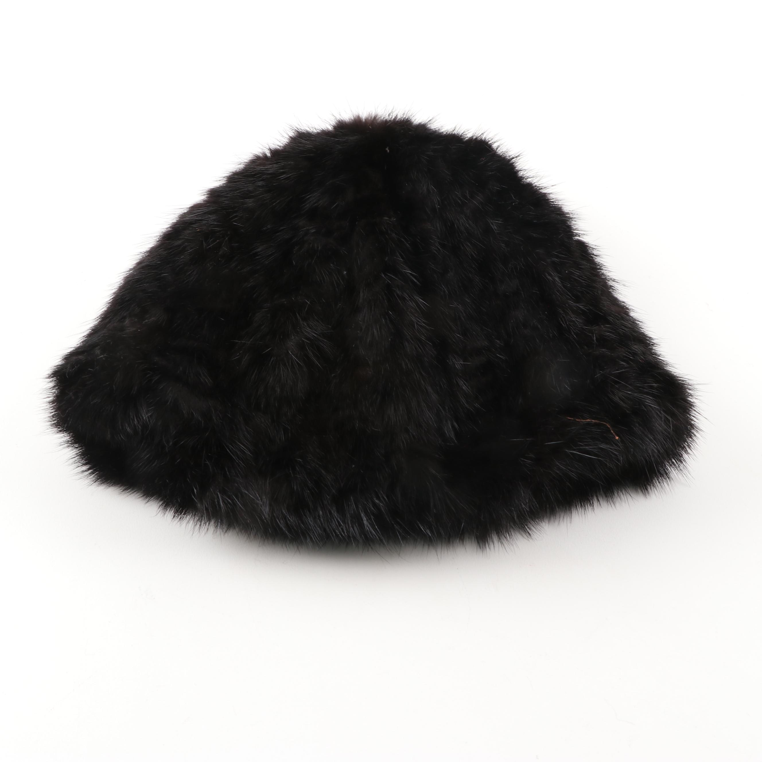 Women's Knitted Mink Fur Hat