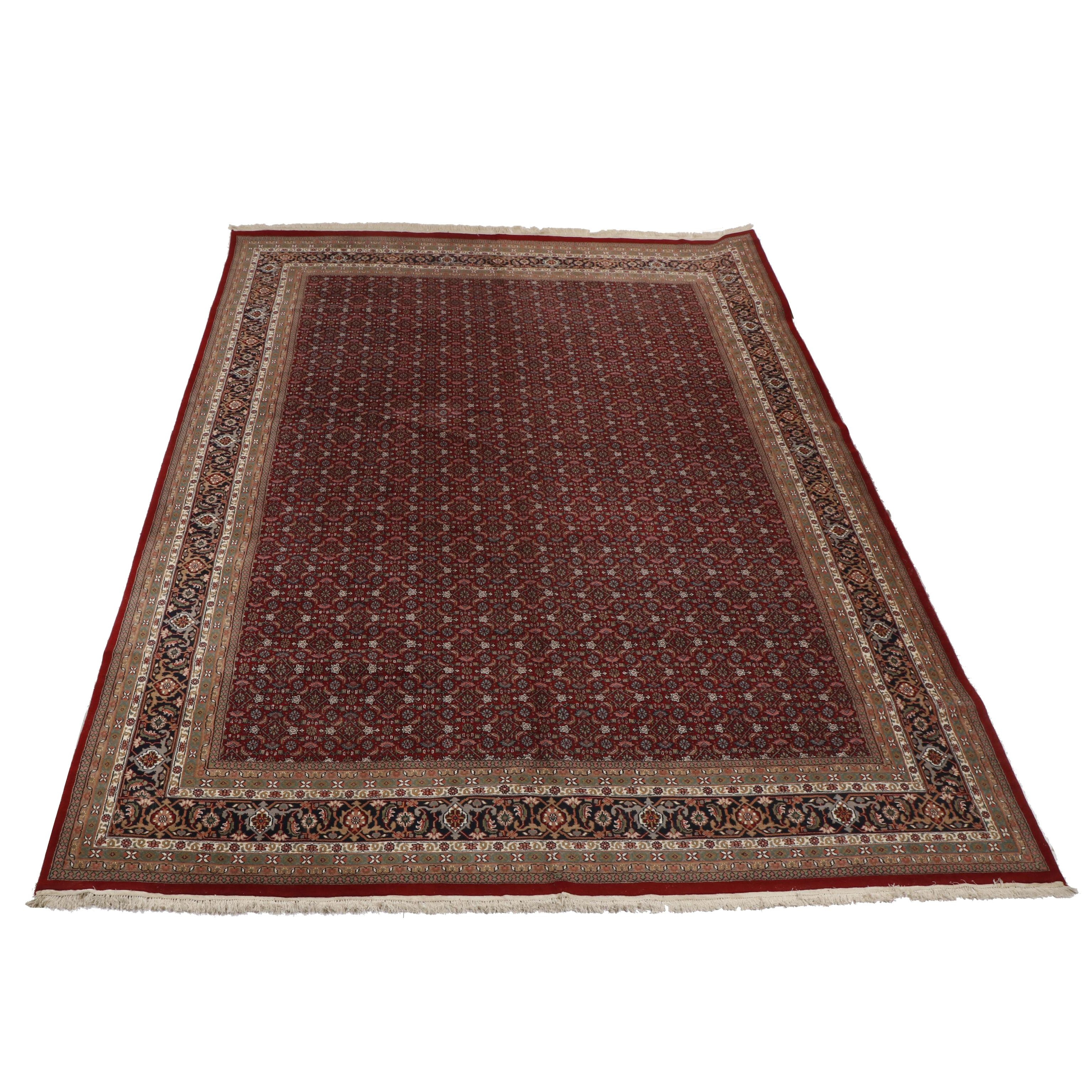 Hand-Knotted Indian Bijar Wool Palace Sized Wool Rug from Oscar Isberian