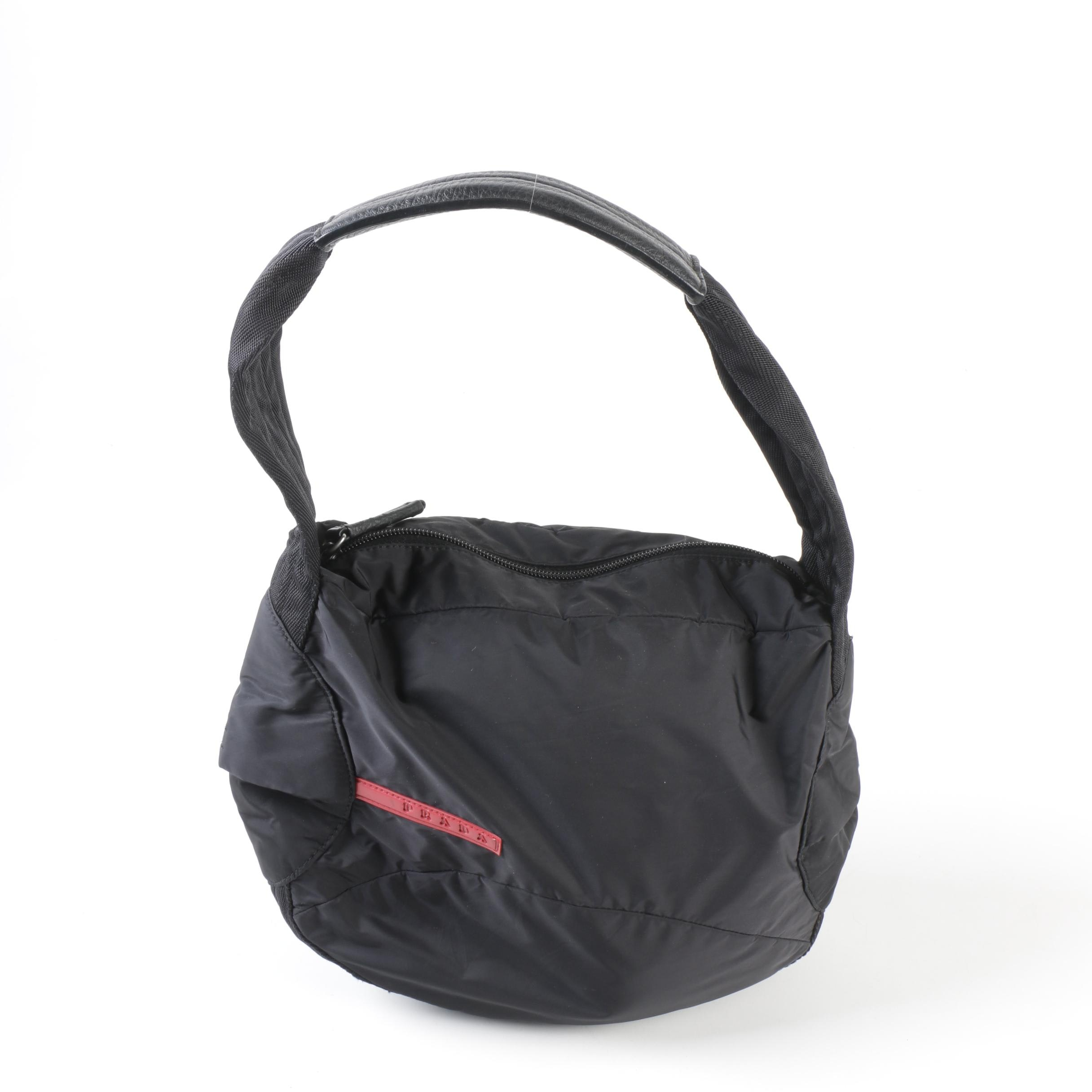 Prada Black Sport Nylon 4VA356 Shoulder Bag