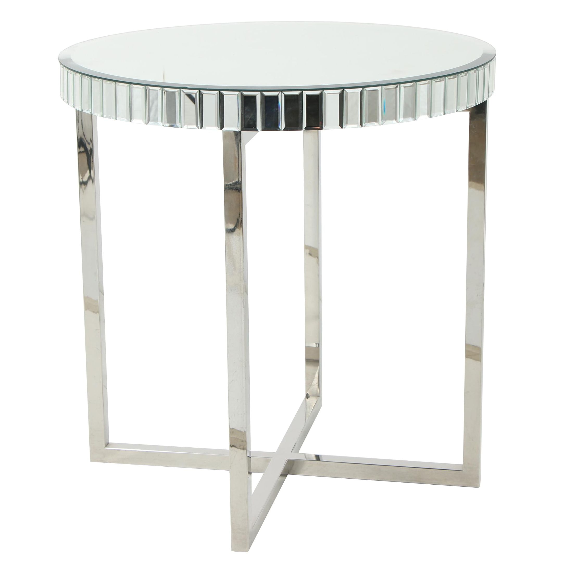 Regency Moderne-Style Mirrored Accent Table
