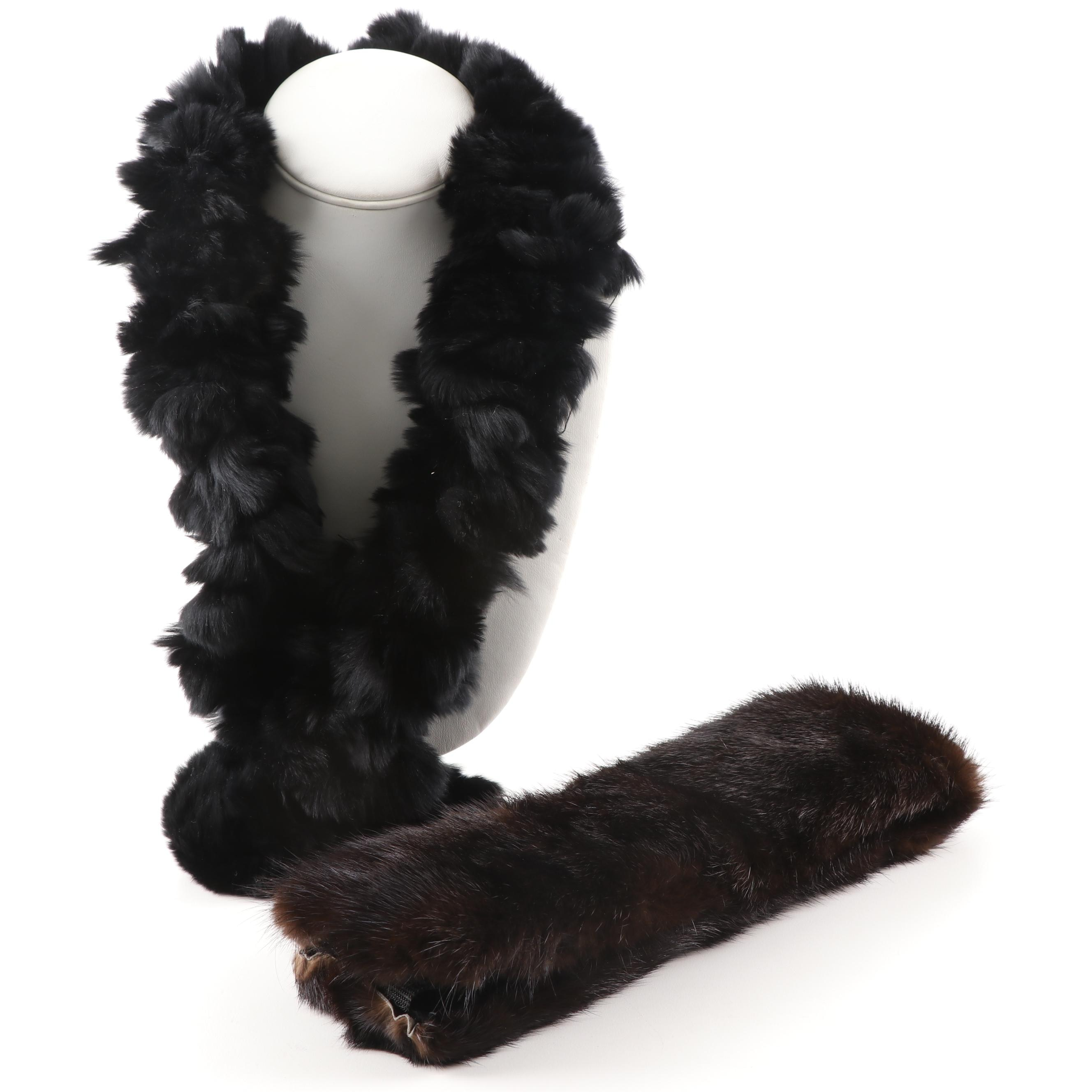 Mink Fur and Rabbit Fur Collars