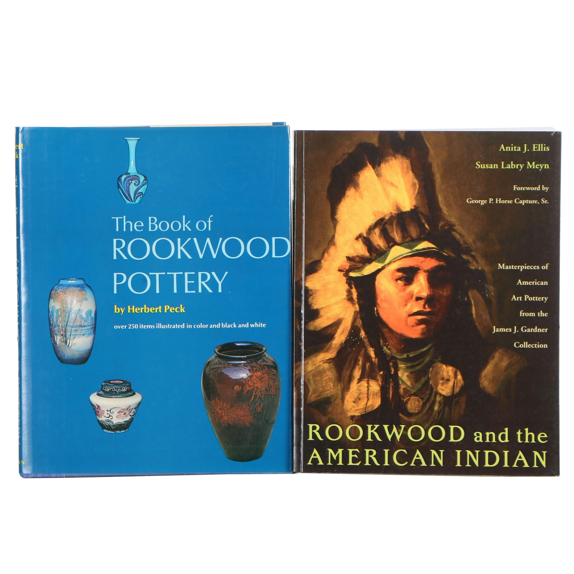 "Two Rookwood Pottery Books, Including ""Rookwood and the American Indian"""