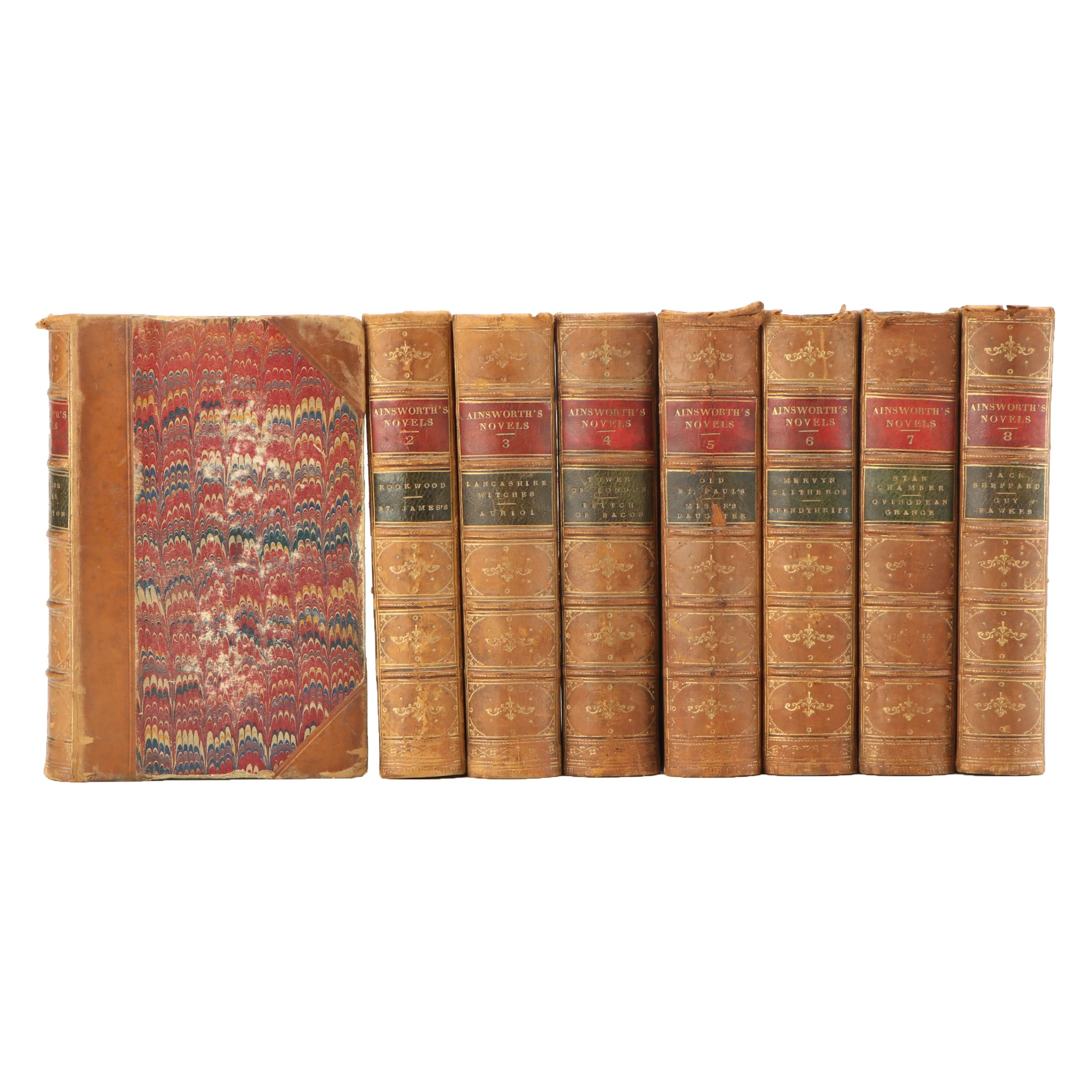 W. Harrison Ainsworth Fiction and Romance Novels, Eight Volume Set