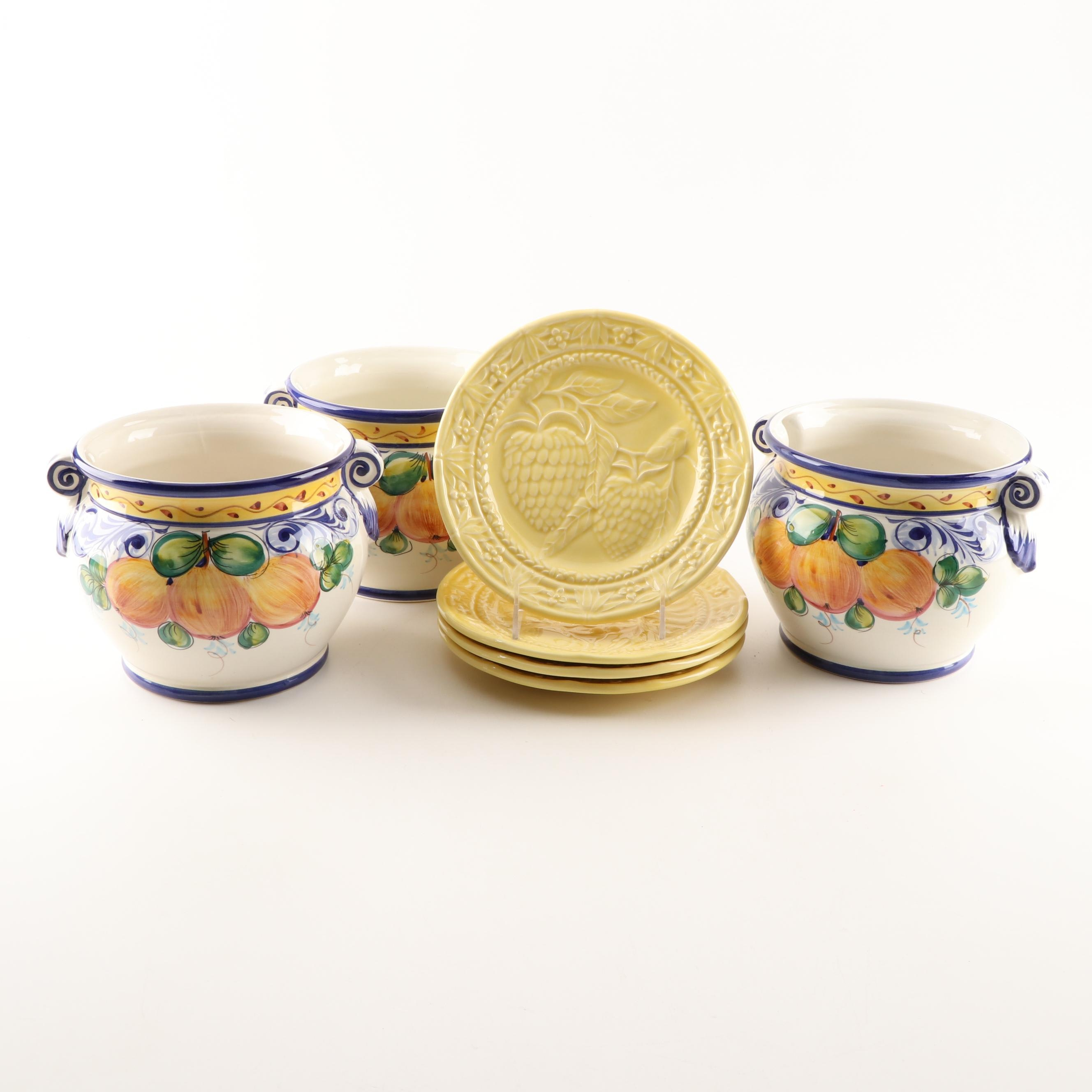 Hand-Painted Portuguese Majolica and Pottery by Jay Willfred for Sadek