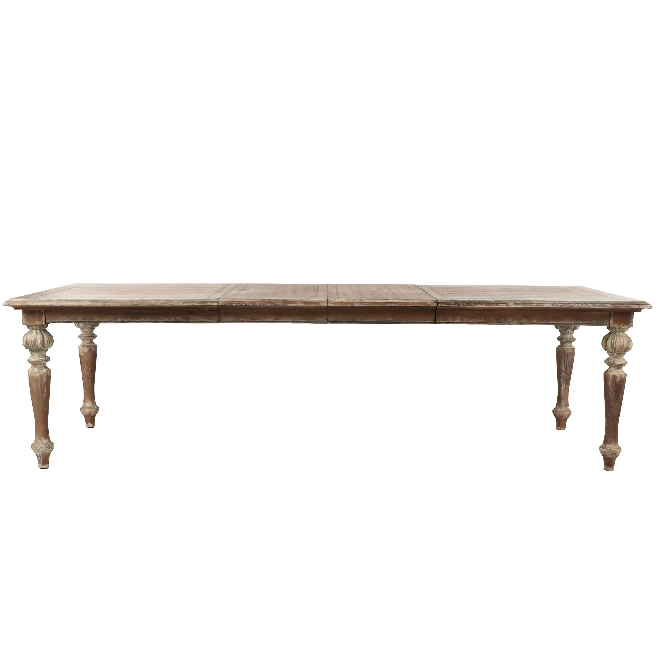 Contemporary Hooker Distressed Wooden Dining Table