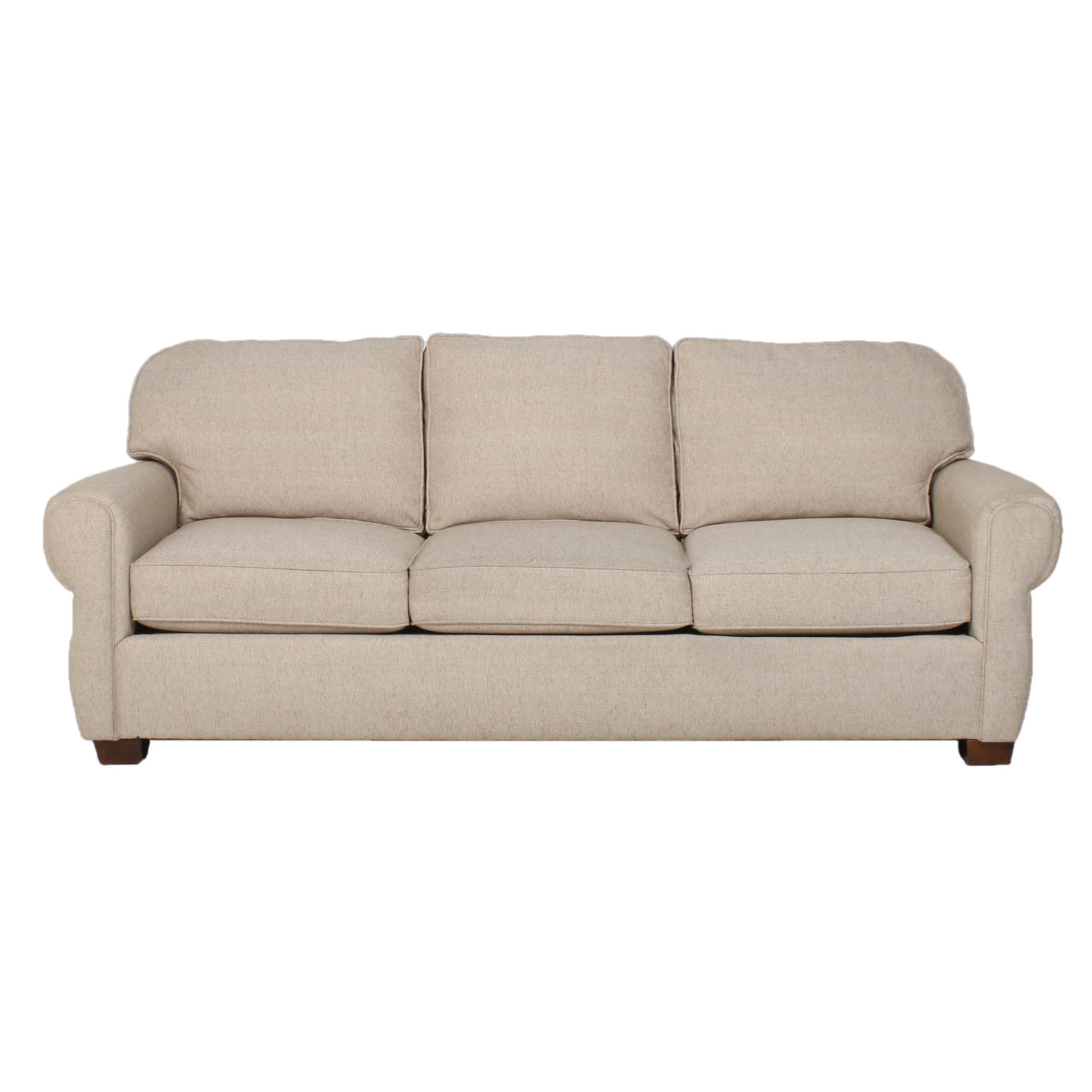 Broyhill for Frontroom Furnishings Beige Upholstered Sofa