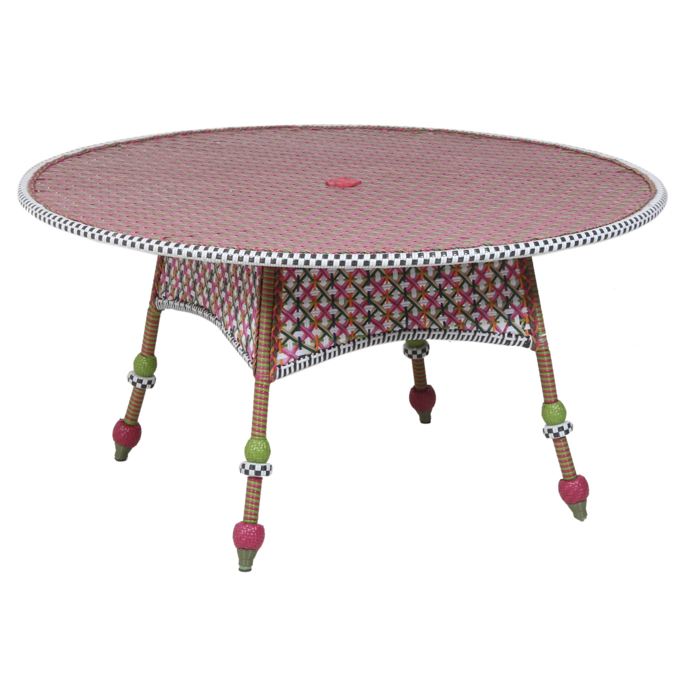 "MacKenzie-Childs ""Greenhouse Collection"" Outdoor Dining Table"
