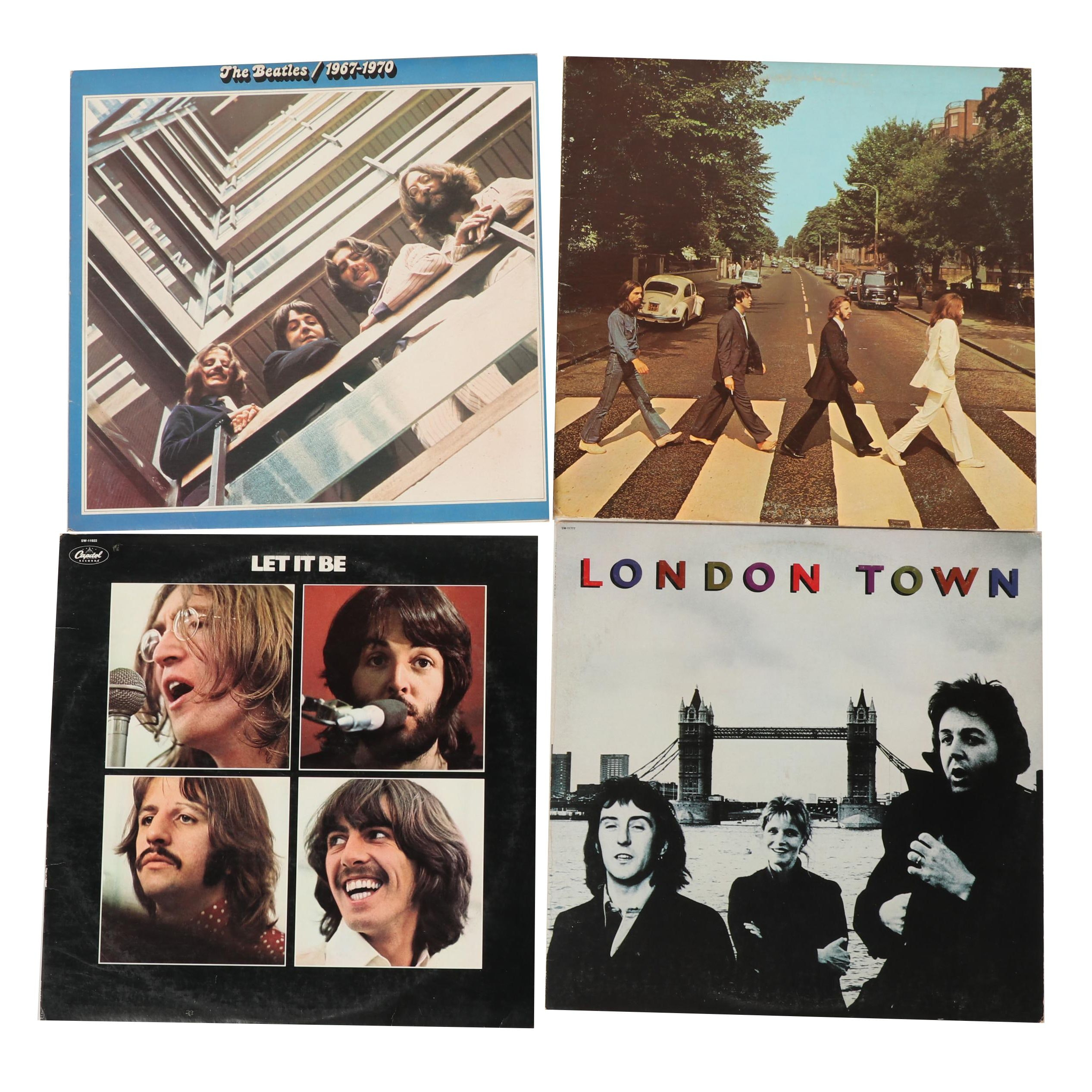 """The Beatles and Wings Vinyl Records Including """"Abbey Road"""""""