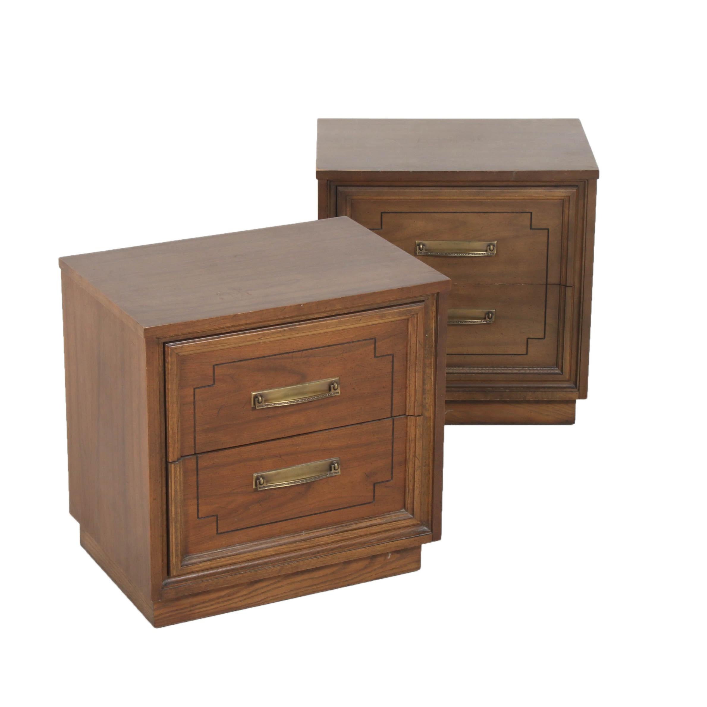 Vintage Dixie Furniture Wooden Nightstands