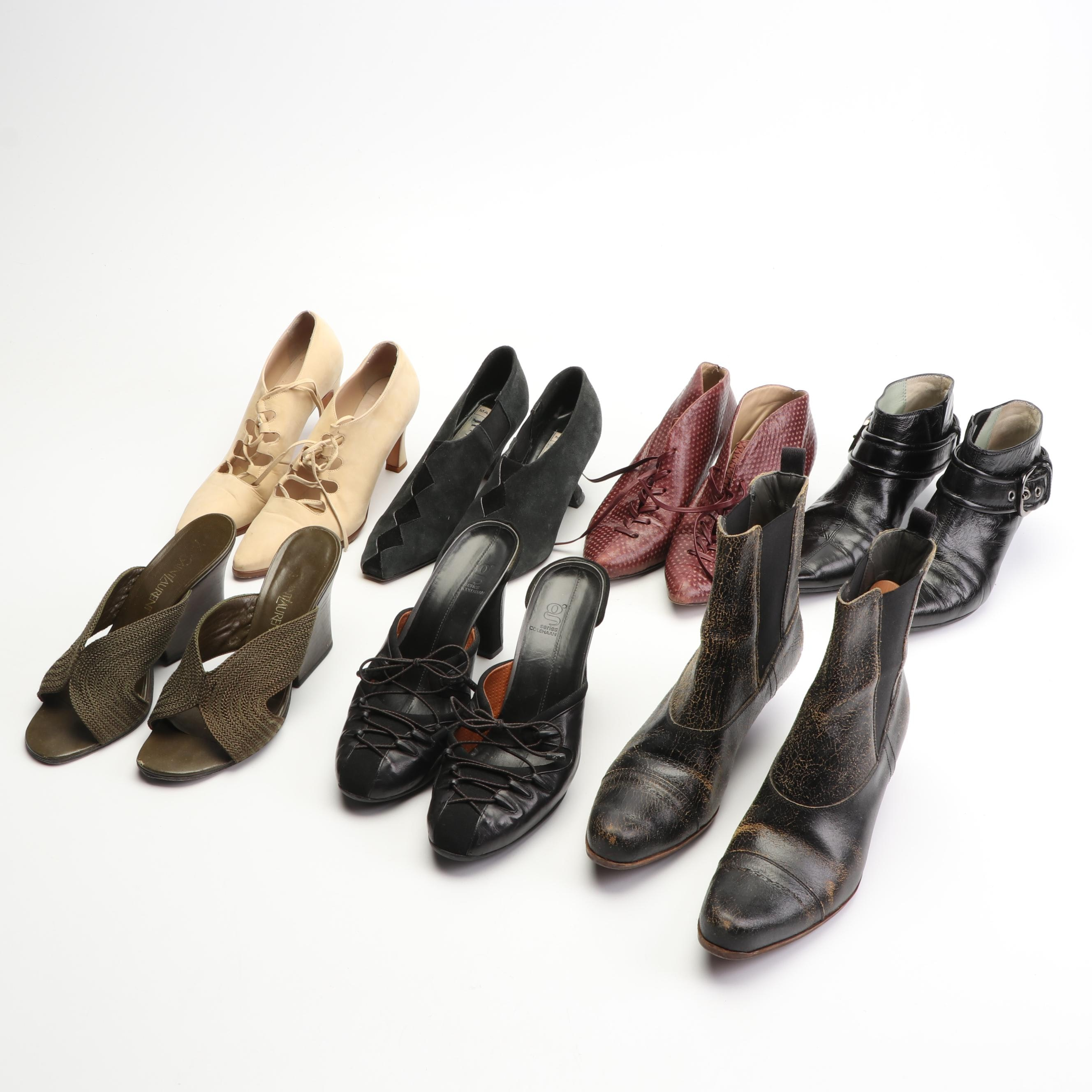 Women's Contemporary Heels Featuring Yves Saint Laurent and Miu Miu