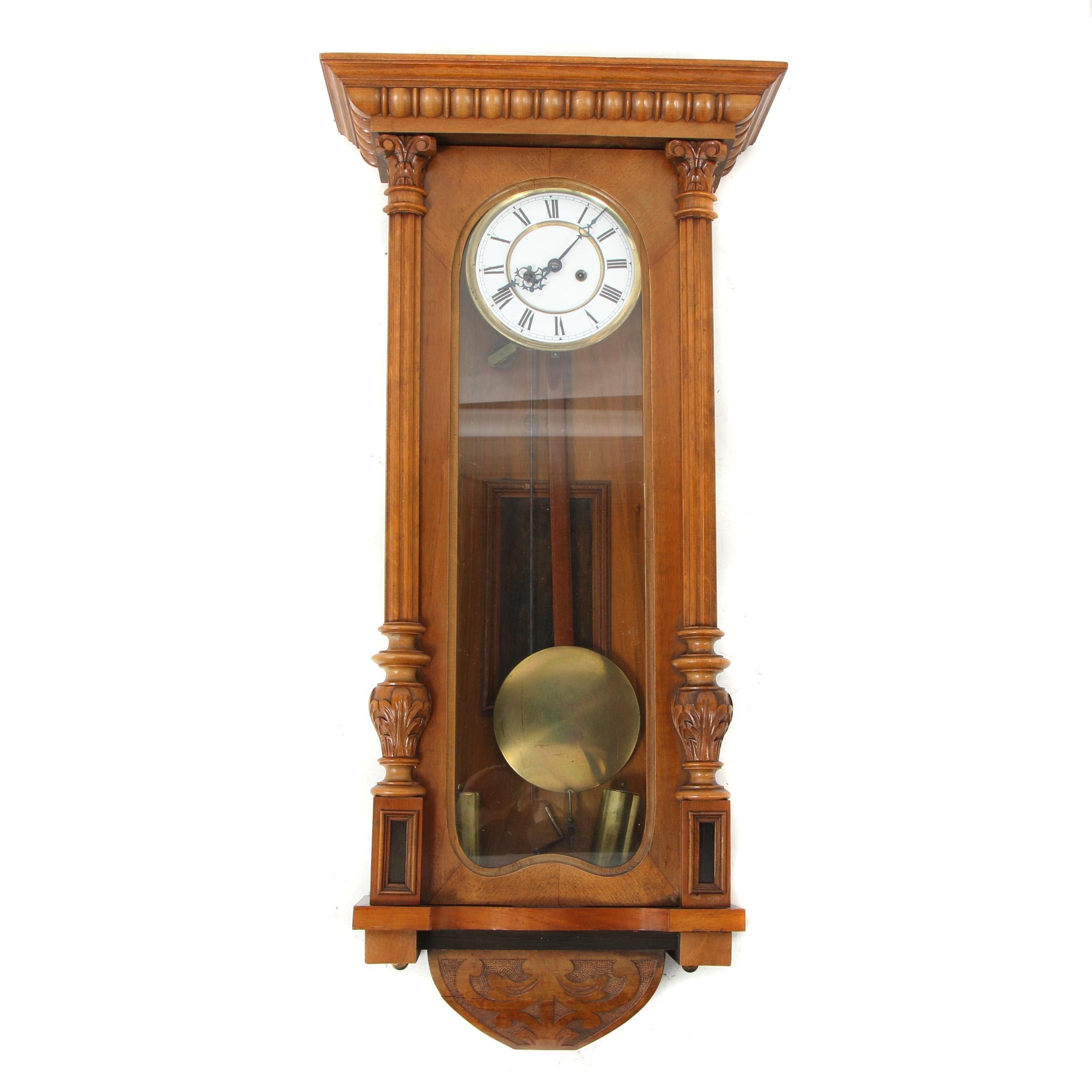 Antique Victorian Gustav Becker Wall Clock