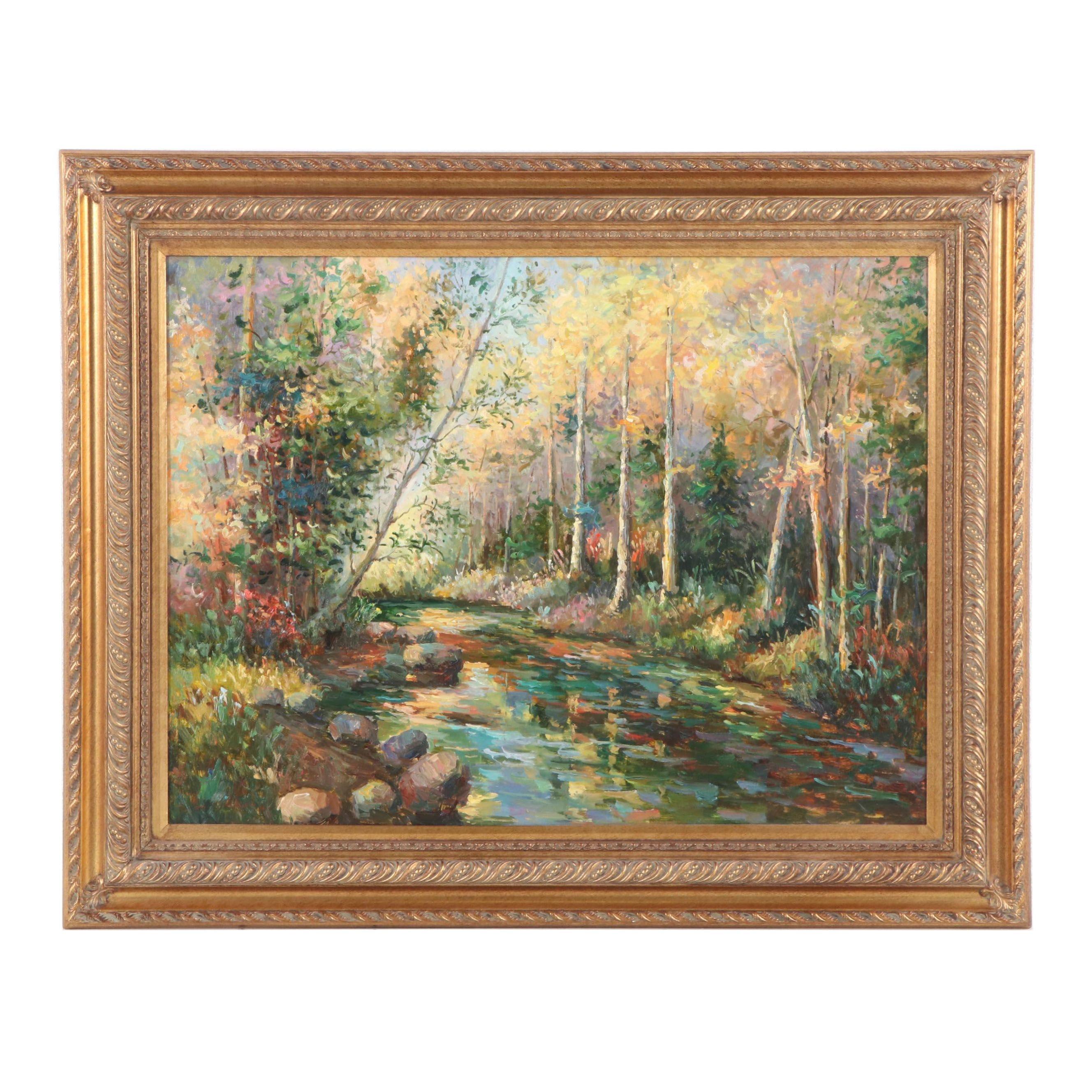 Embellished Landscape Giclée