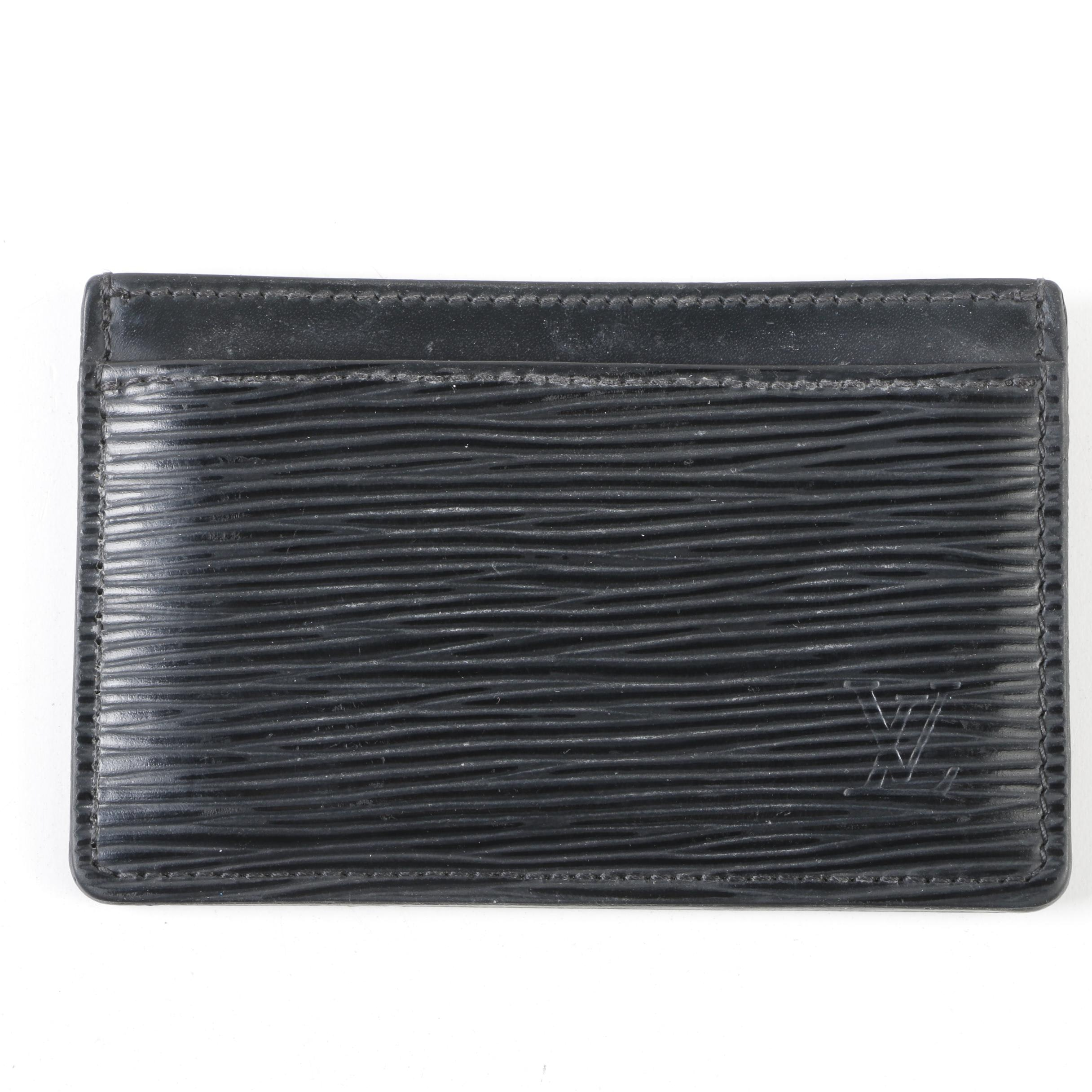 Louis Vuitton Paris Black Epi Leather Card Case