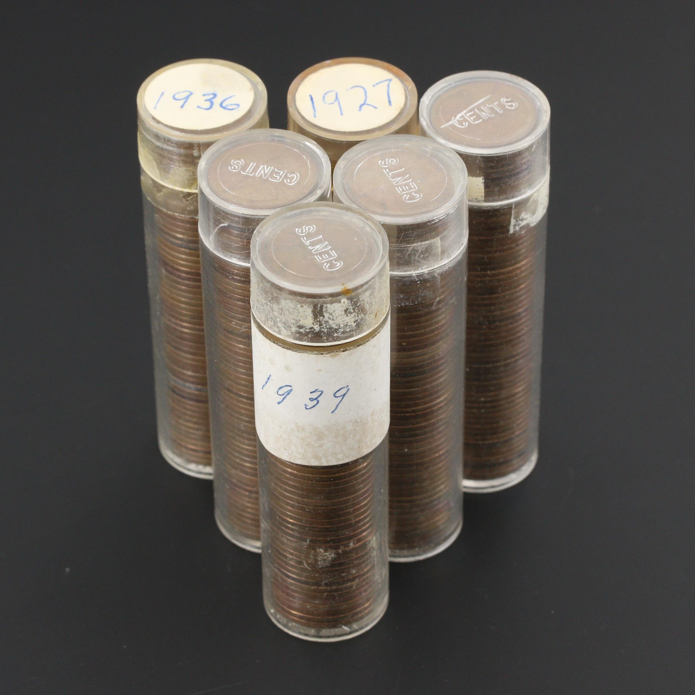 Six Rolls of Lincoln Wheat Cents