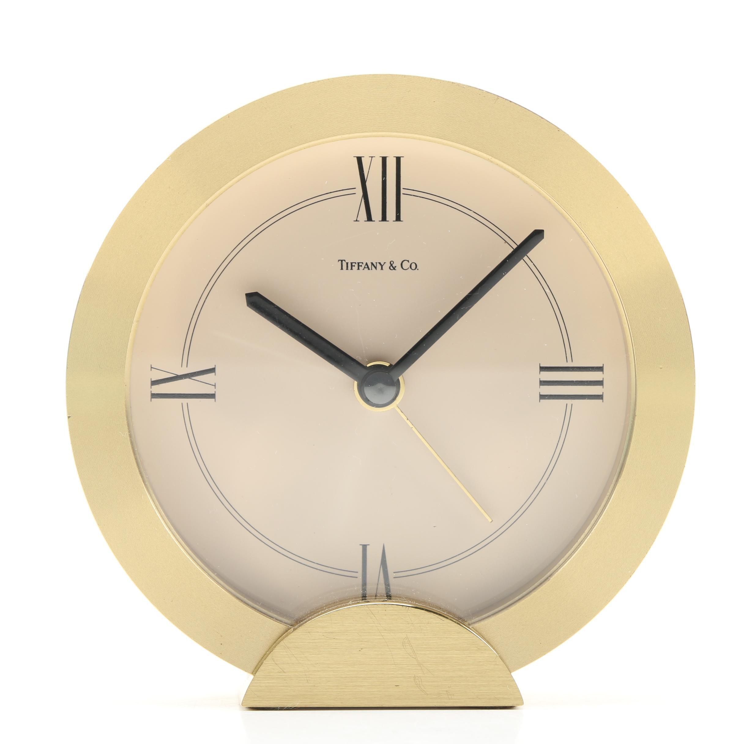 Tiffany & Co. Brass Alarm Clock