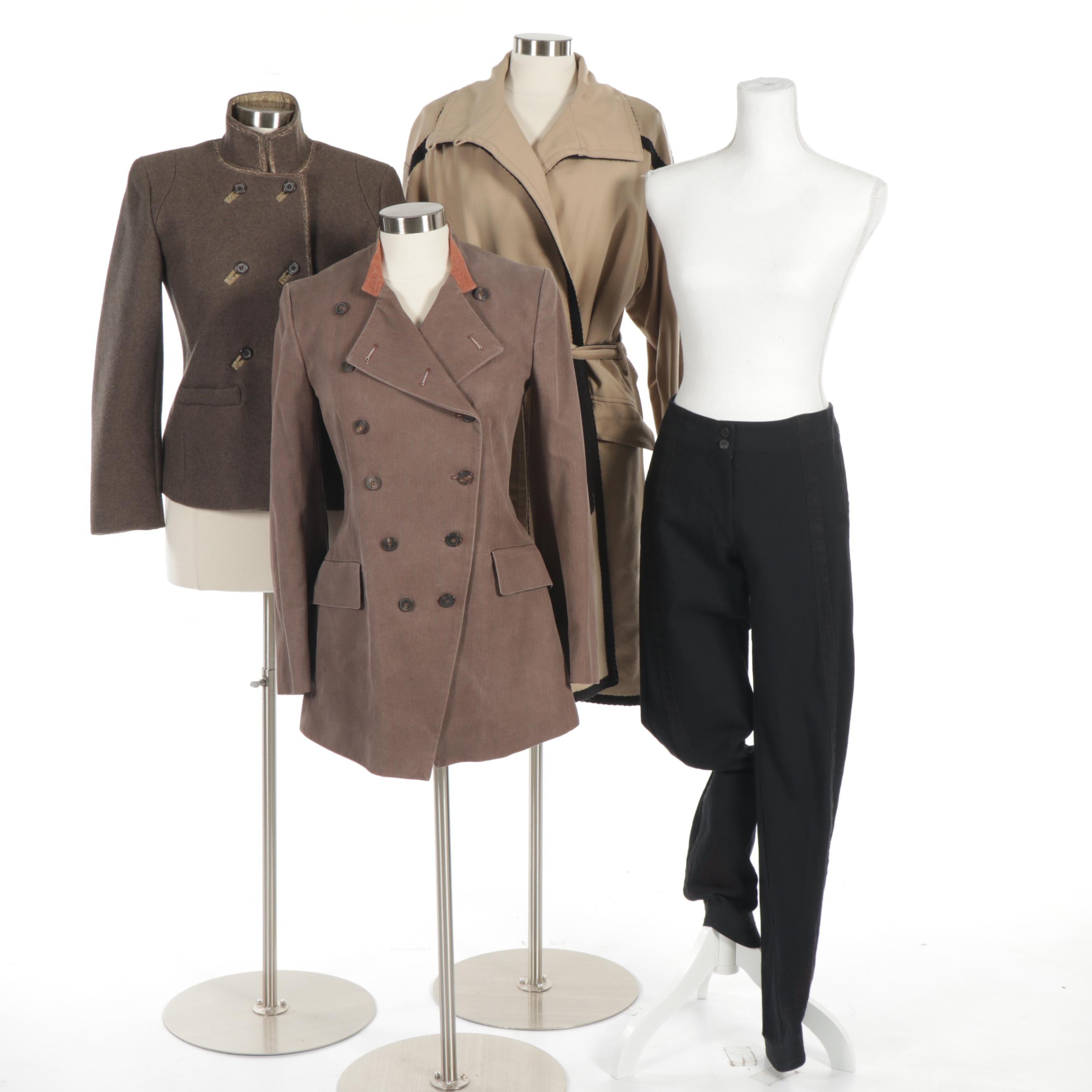 Women's Dries Van Noten Wool and Cotton Coats and Pants
