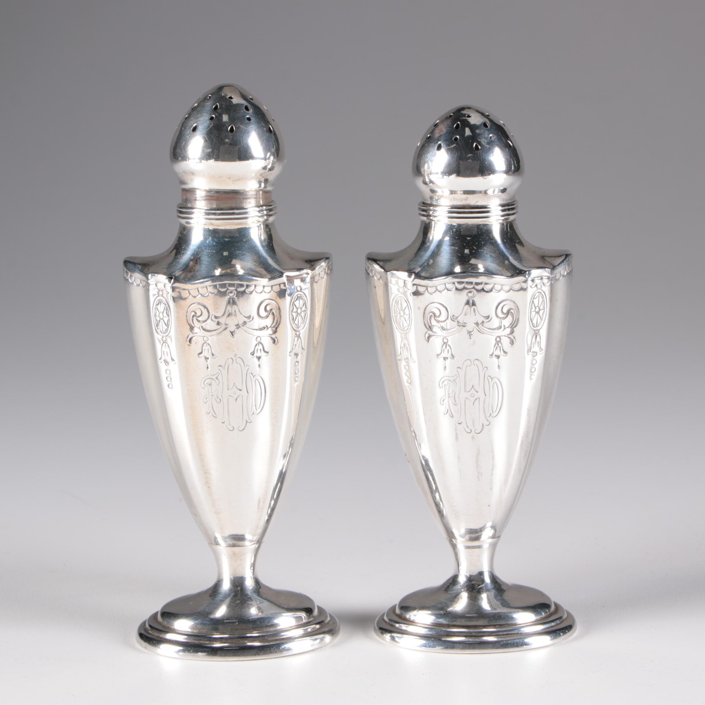 Gorham Cashed Sterling Silver Shaker Set, 20th Century