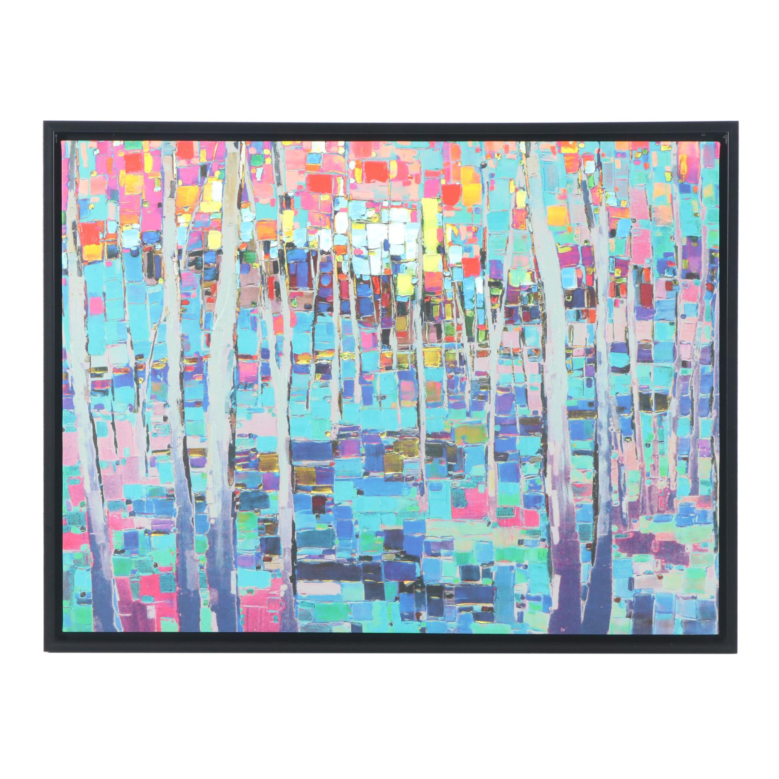 Abstract Embellished Giclée on Canvas