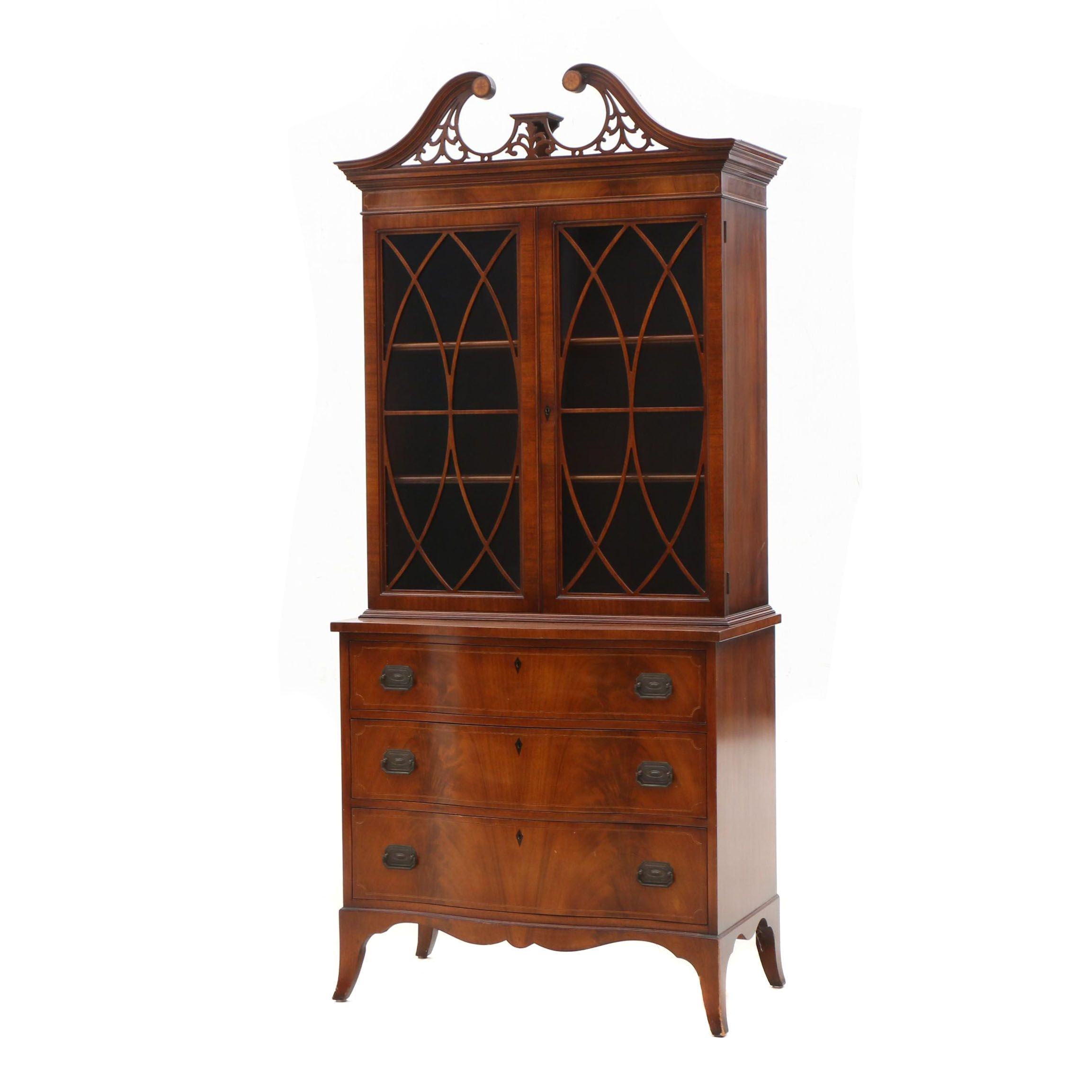 Federal Style Mahogany China Cabinet by Williams Kimp