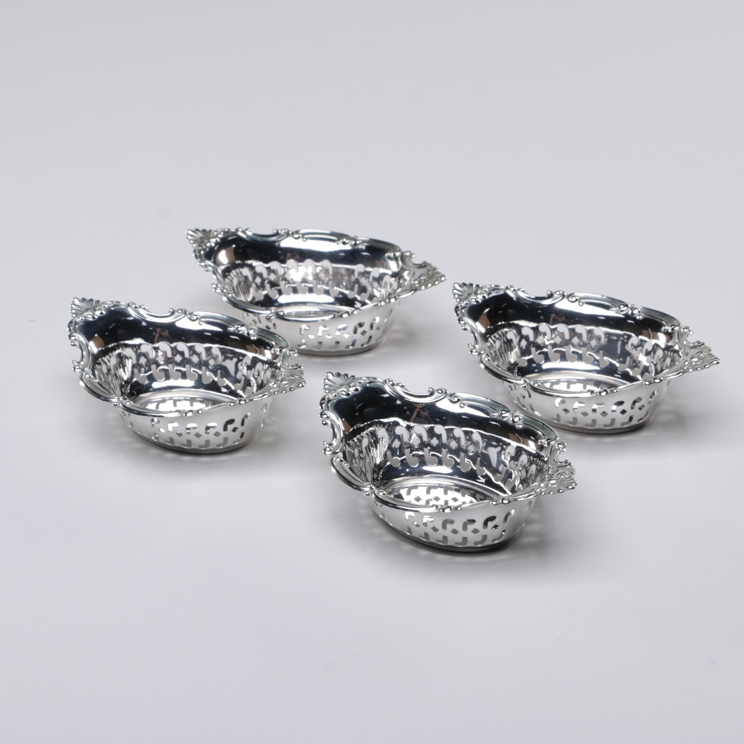 "Gorham ""Cromwell"" Pierced Sterling Nut Dishes, 20th Century"