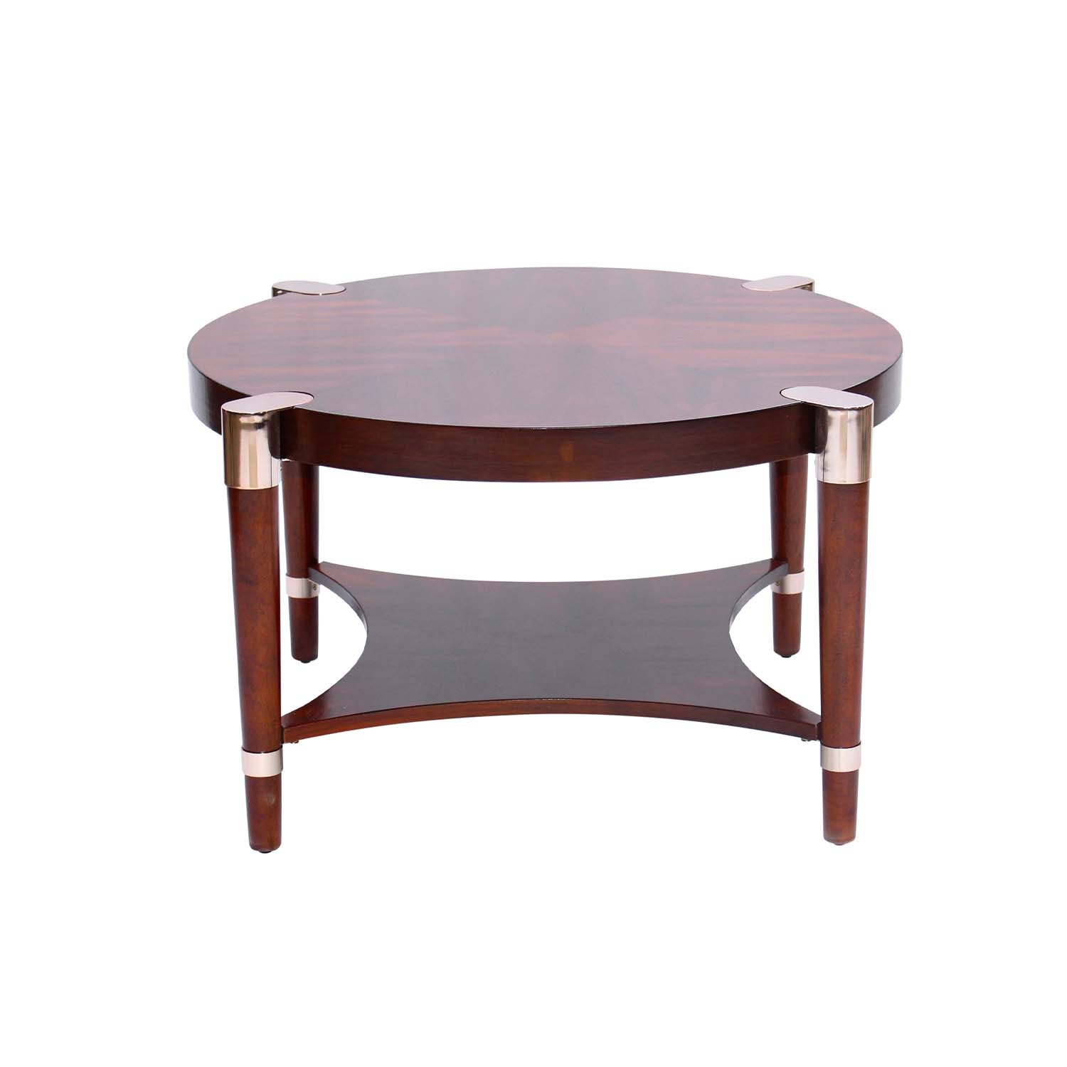 Mid-Century Modern Style Round Coffee Table, Contemporary