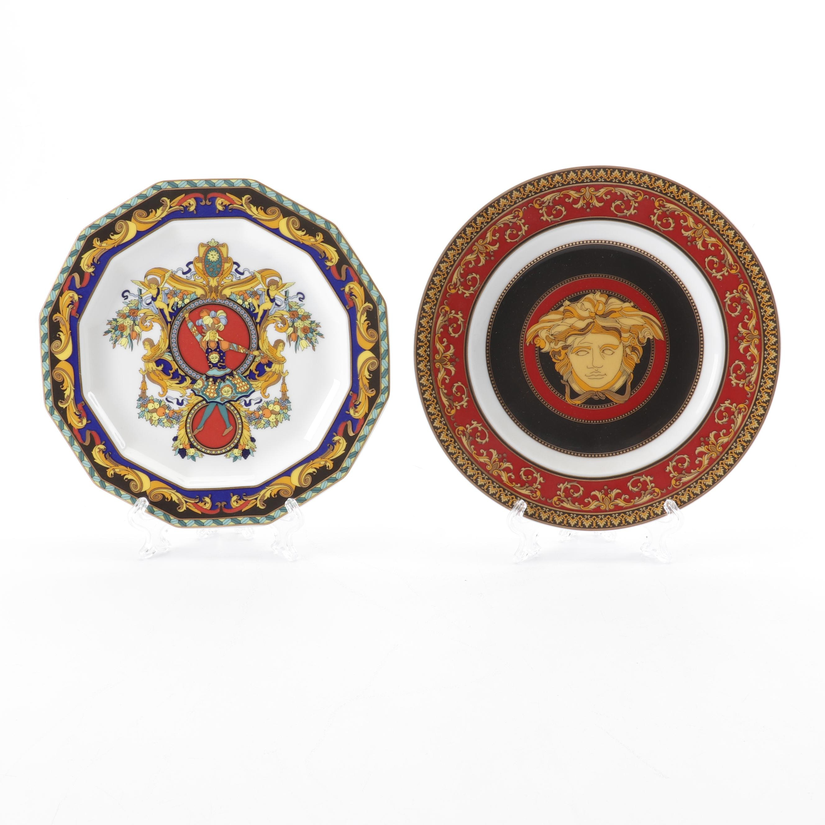 """Versace for Rosenthal """"Medusa"""" and """"Le Roi Soleil"""" Bread or Salad Plates"""