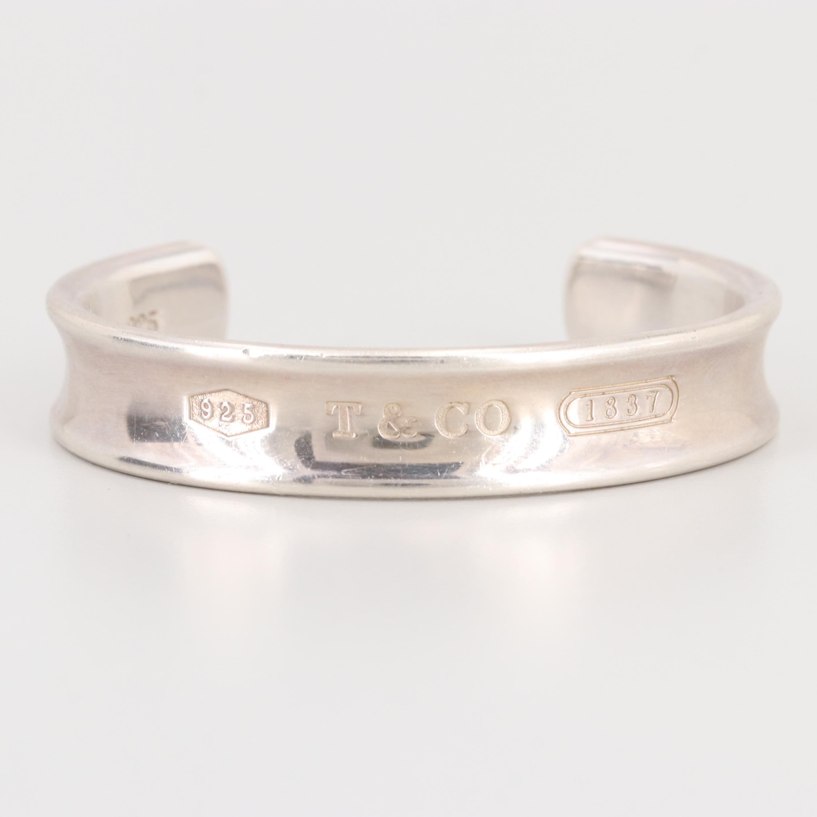 """Tiffany & Co. """"1837"""" Collection Sterling Silver Cuff Bracelet"""