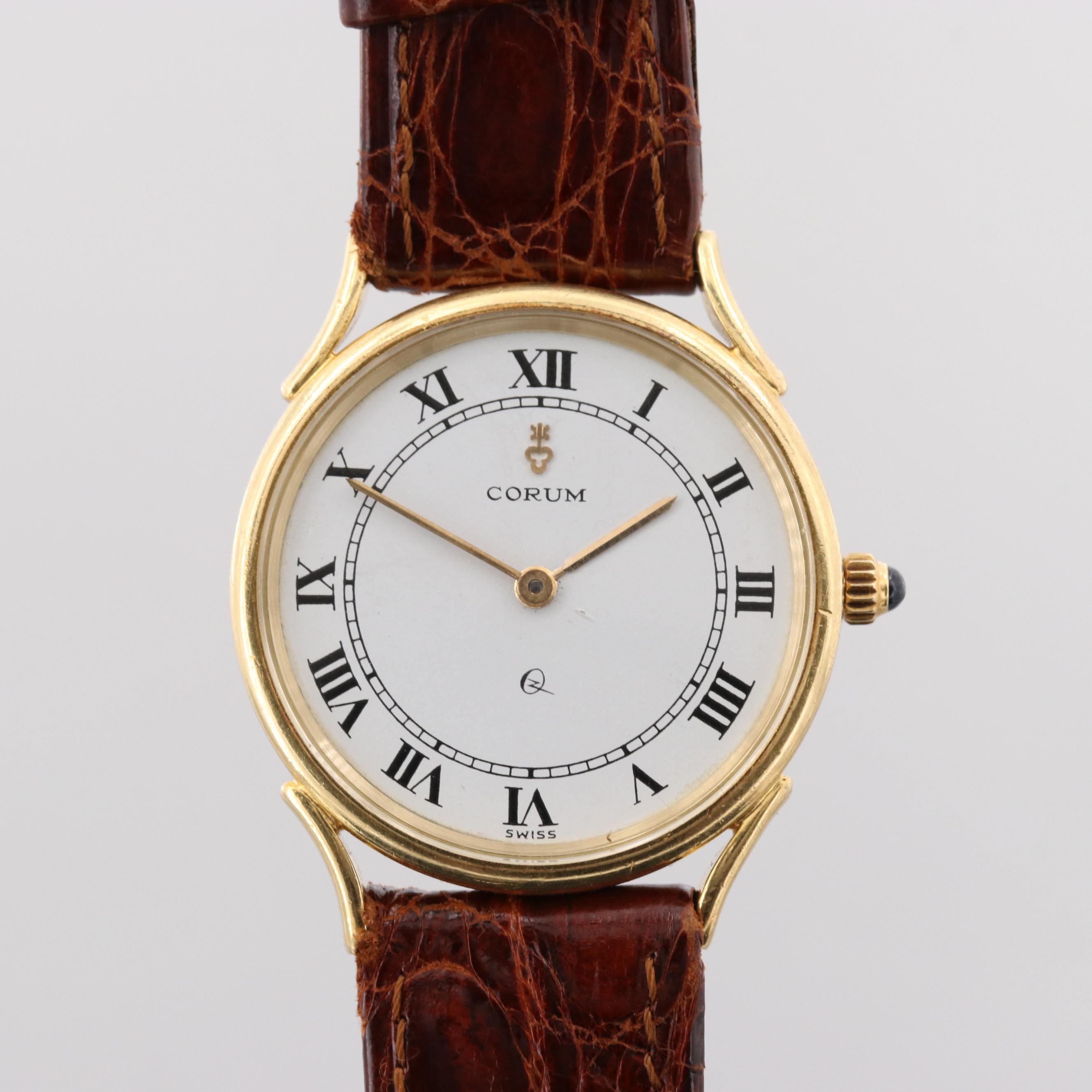 Corum 18K Yellow Gold Quartz Wristwatch