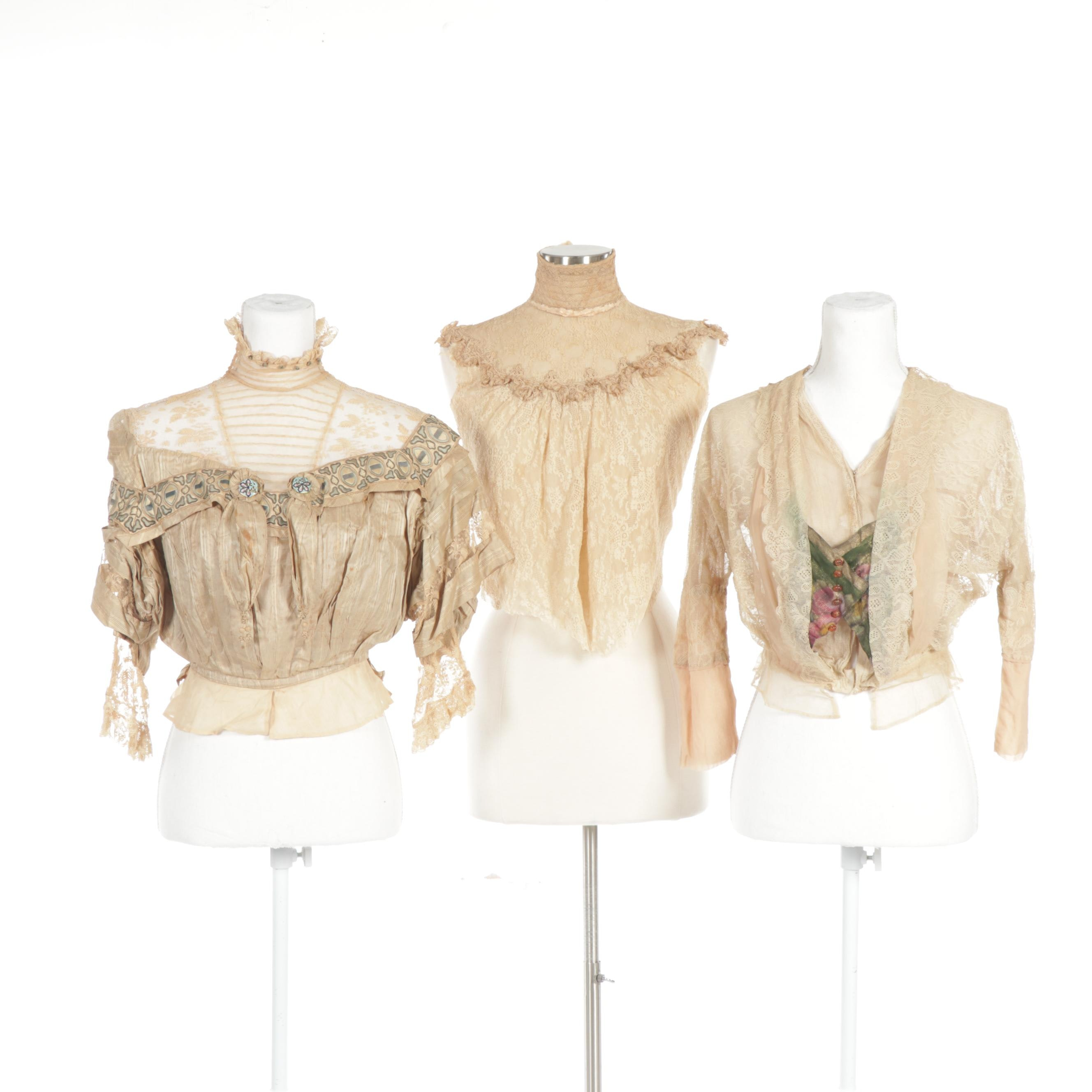 Women's Lace Blouses and Trim, Late Victorian to Edwardian Era