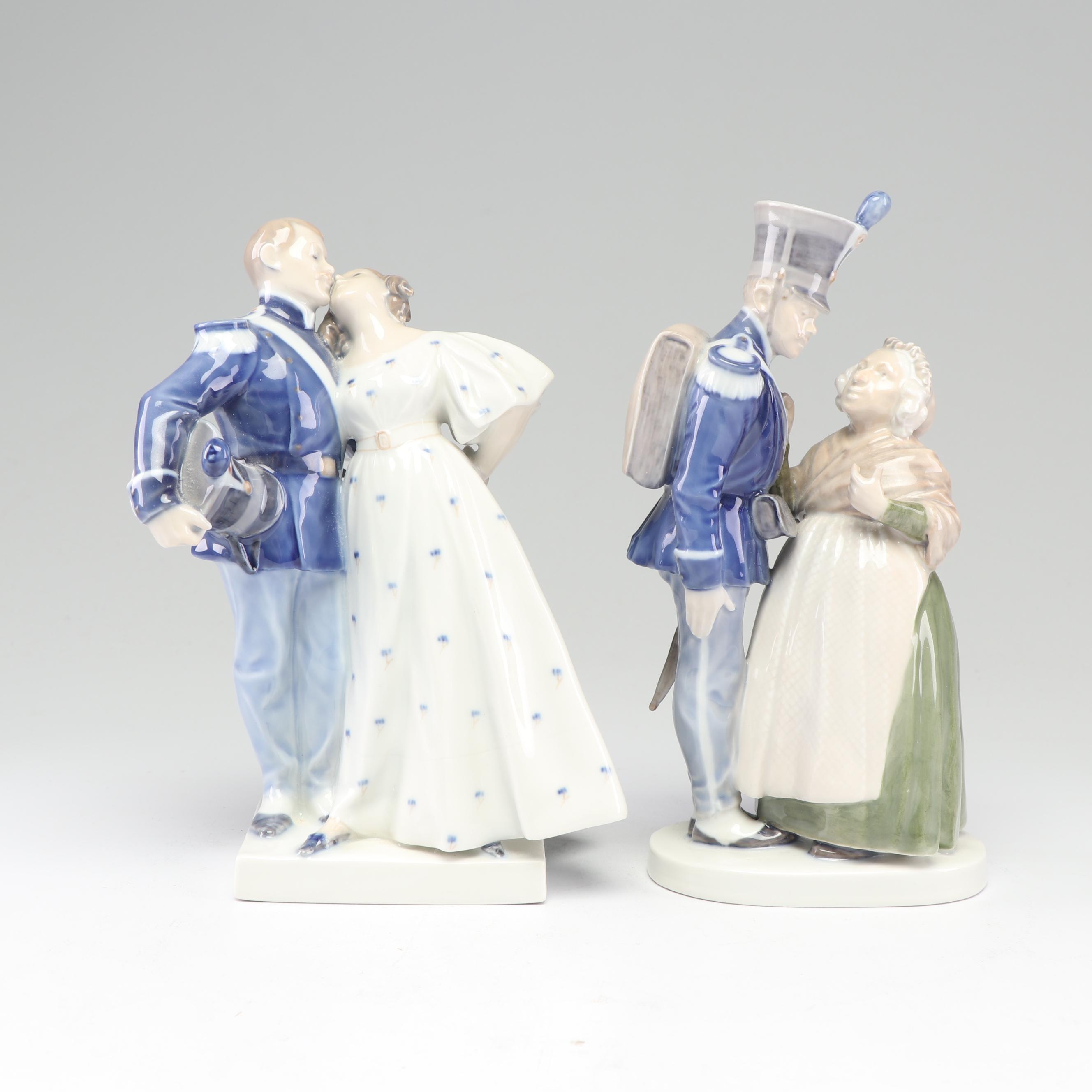 Royal Copenhagen Denmark Porcelain Figurines