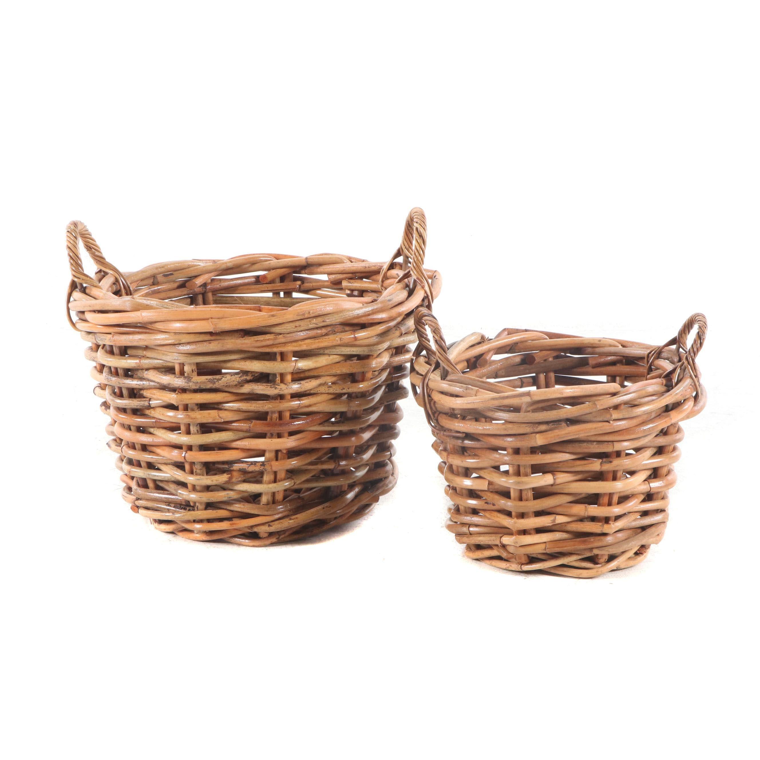 Oversize Woven Wooden Nesting Baskets