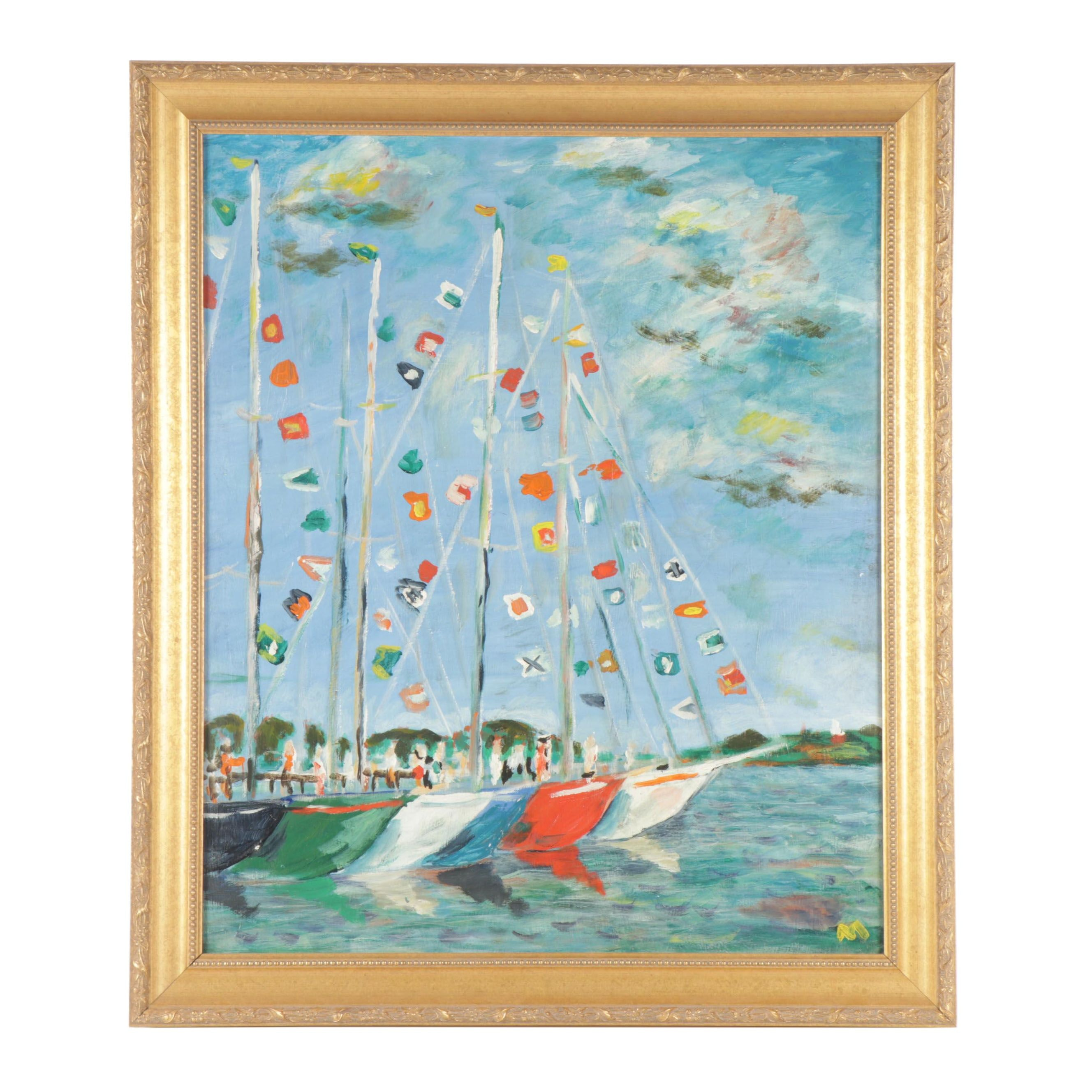 Contemporary Nautical Oil Painting