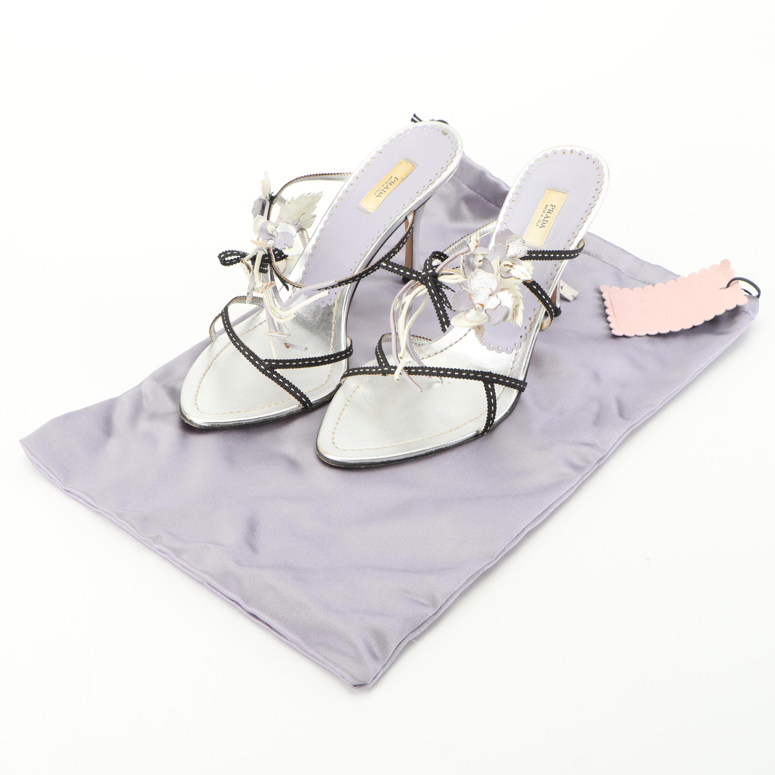 Prada for Neiman Marcus Calzature Donna Strappy Sandals