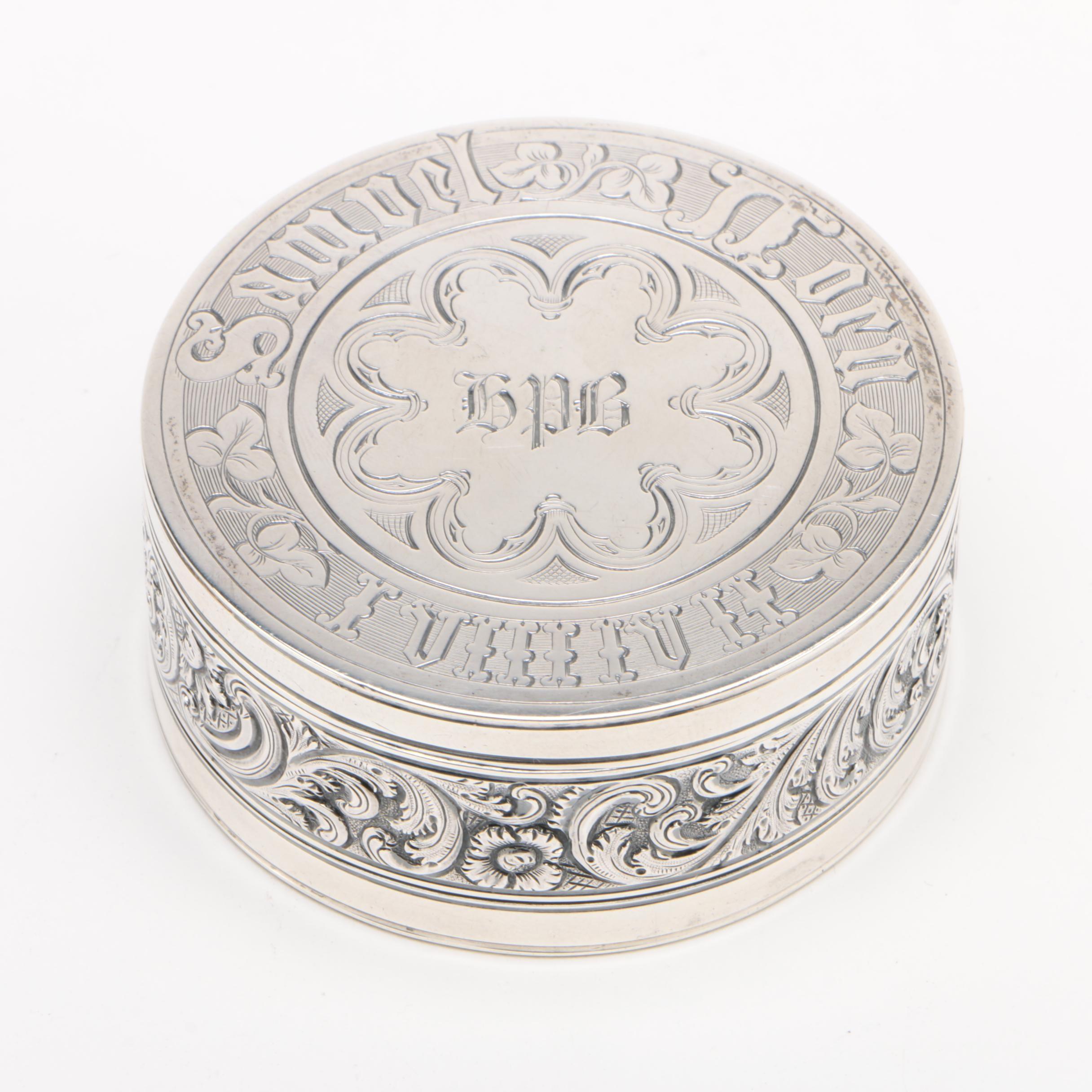 John Angell II & George Angell English Sterling Gentlemen's Vanity Box, 1848