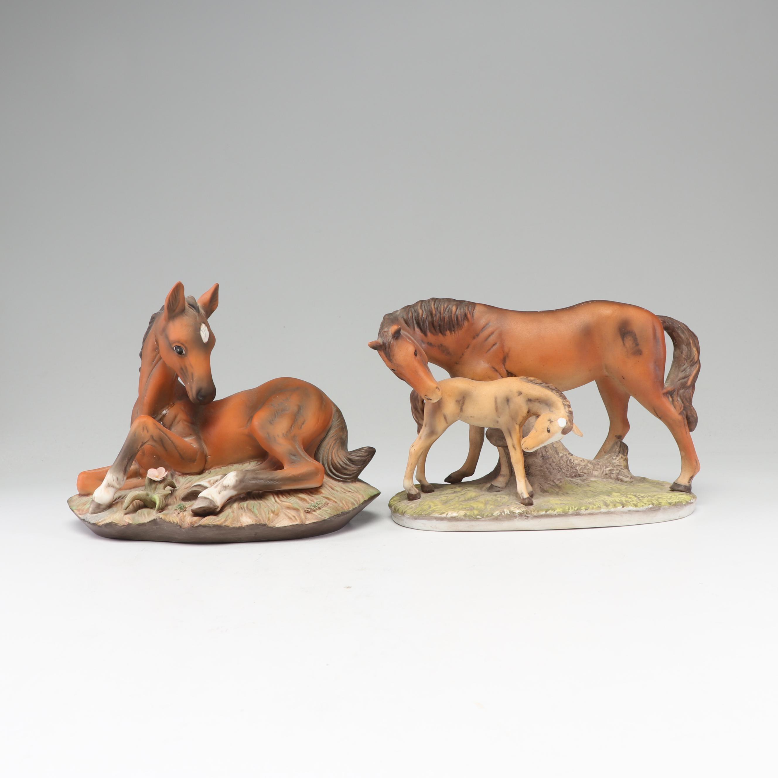 Homco Porcelain Horse Figurines
