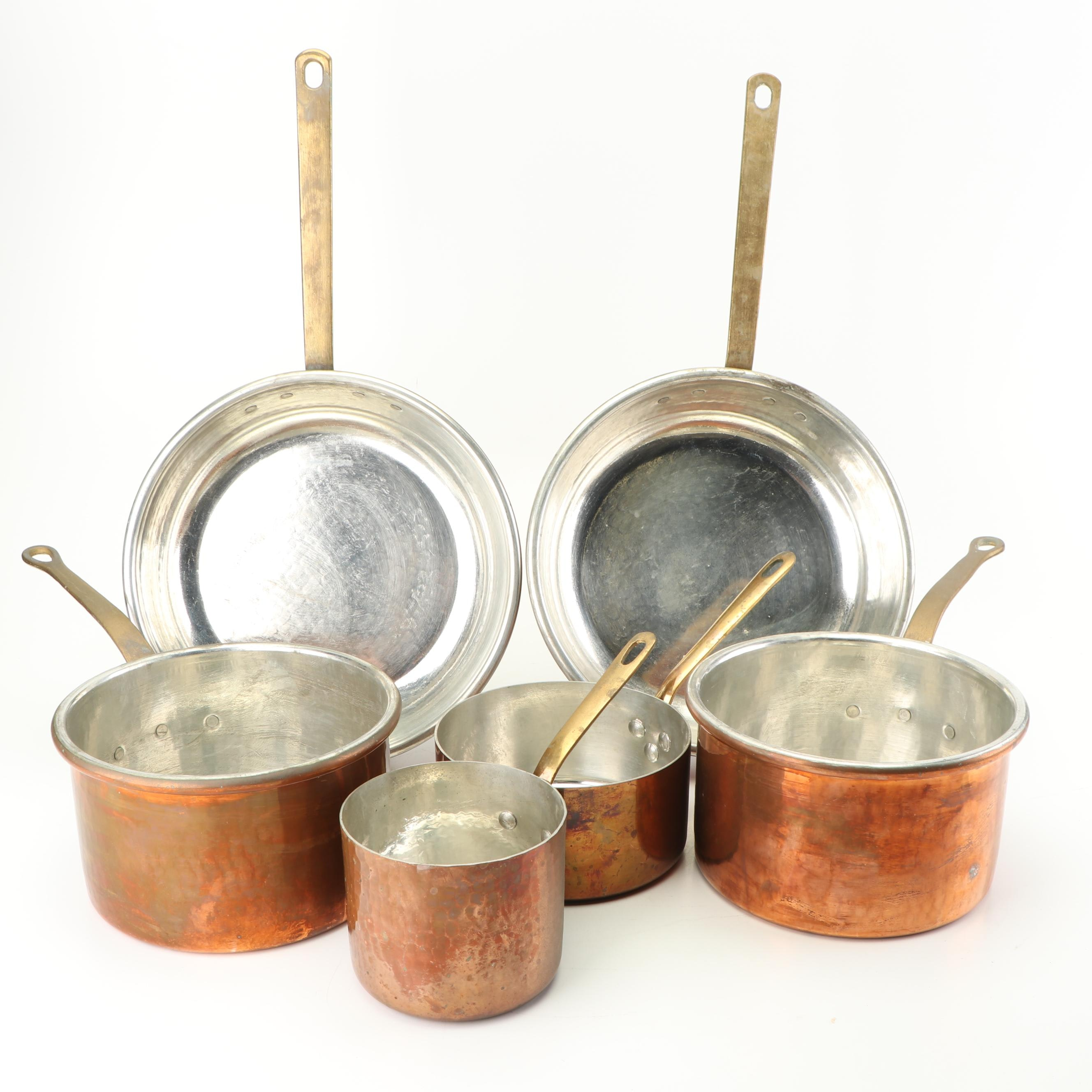 Italian and French Copper Cookware Including Mauviel
