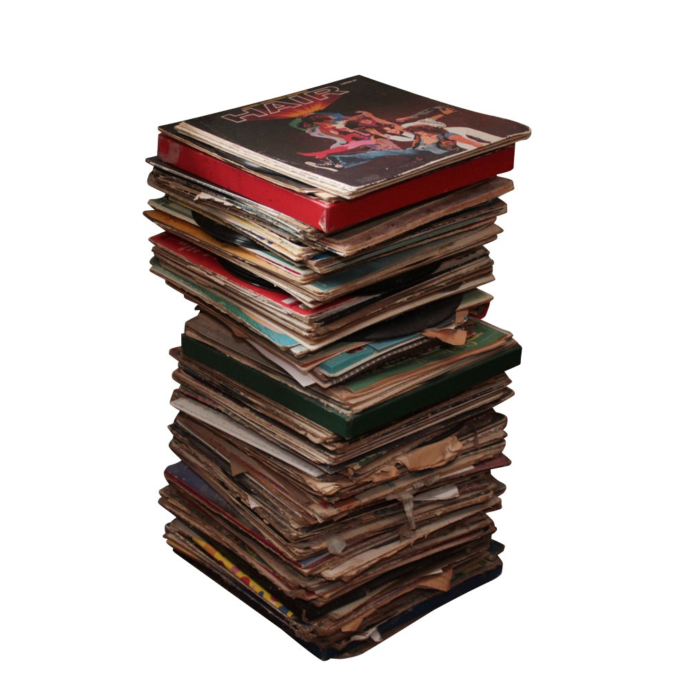 Large Grouping of Vinyl Records, Vintage