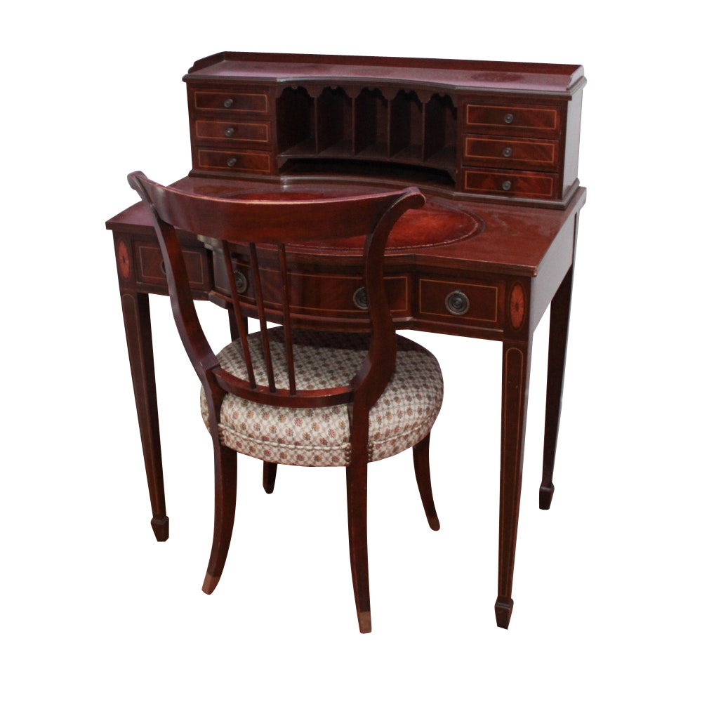 Neoclassical Secretary Desk and Chair