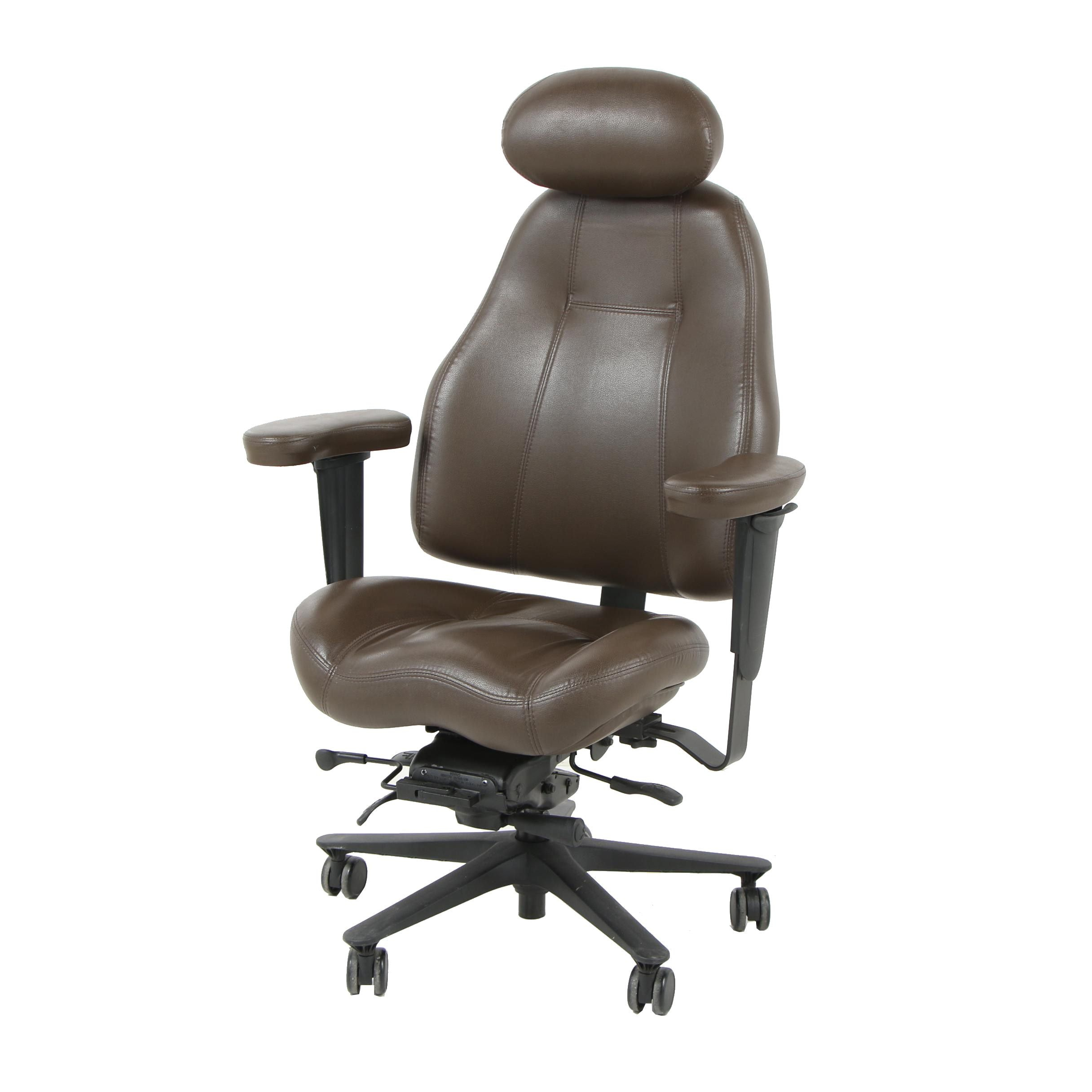 Mordern Lifeform Brown Leather Office Chair