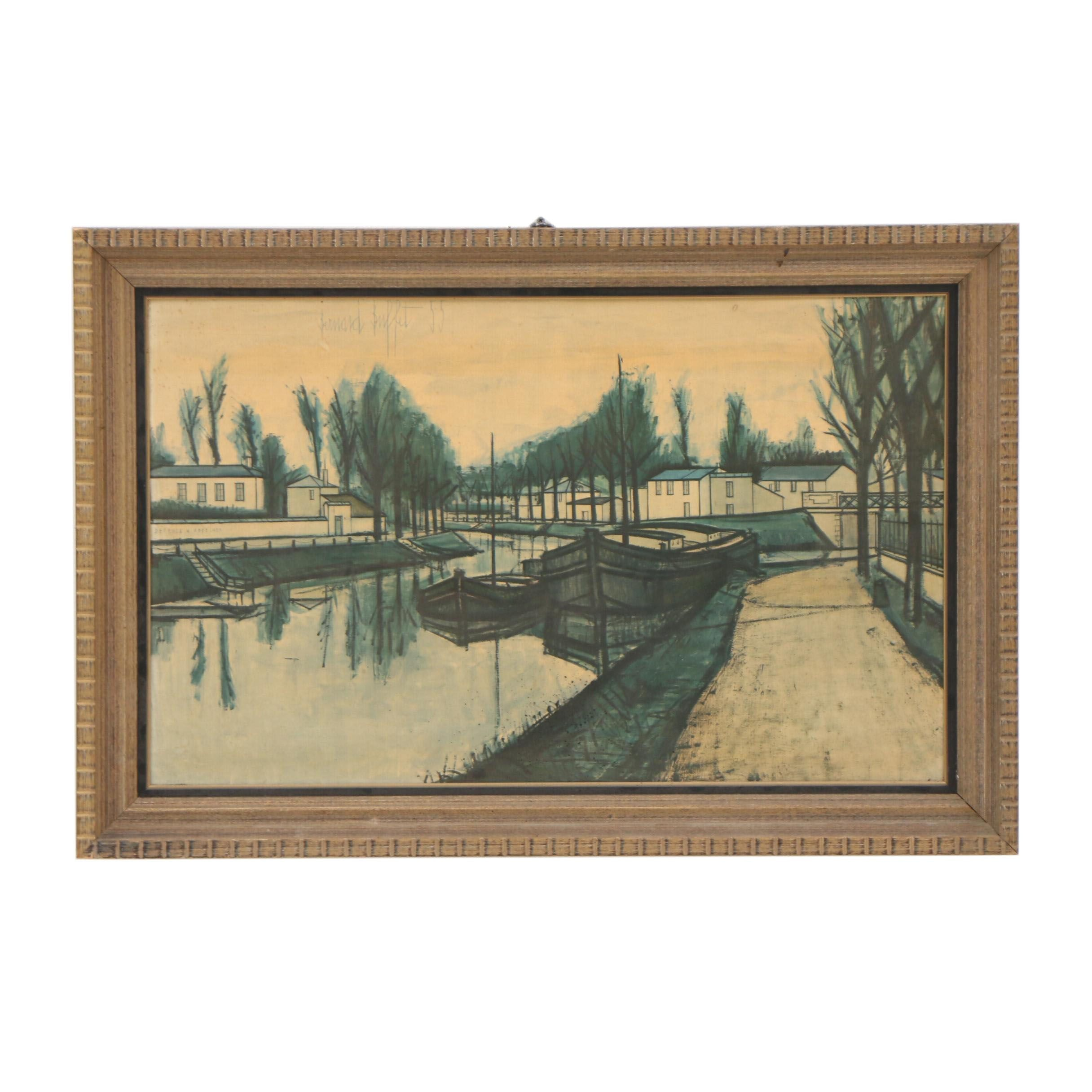 """Lithographic Print after Bernard Buffet """"Le Canal"""""""